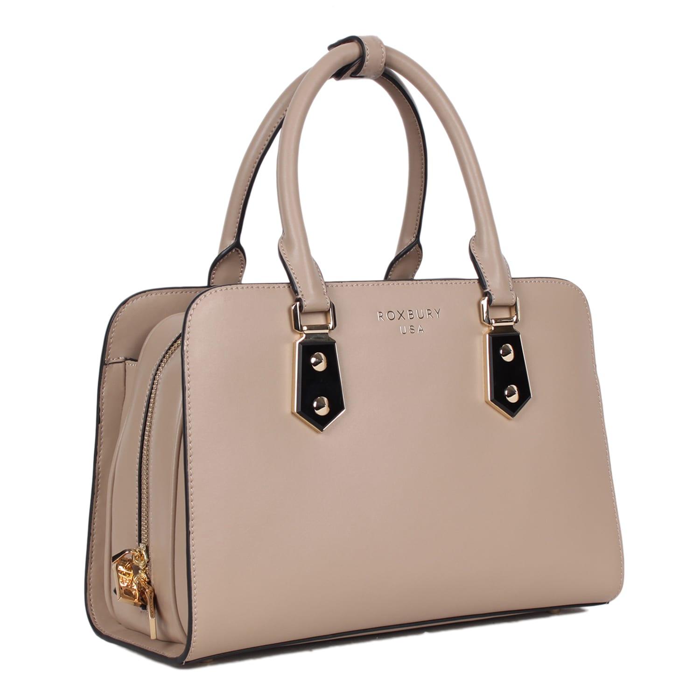 Roxbury Logan Beige Satchel Bag Free Shipping Today 16900954