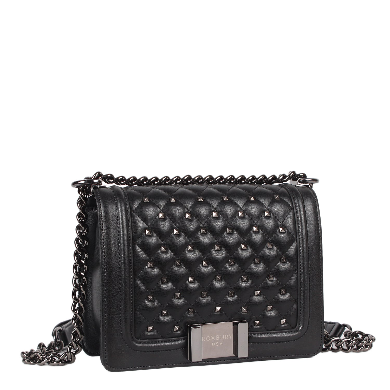 Roxbury Giotto Black Leather Crossbody Bag Free Shipping Today 16900972