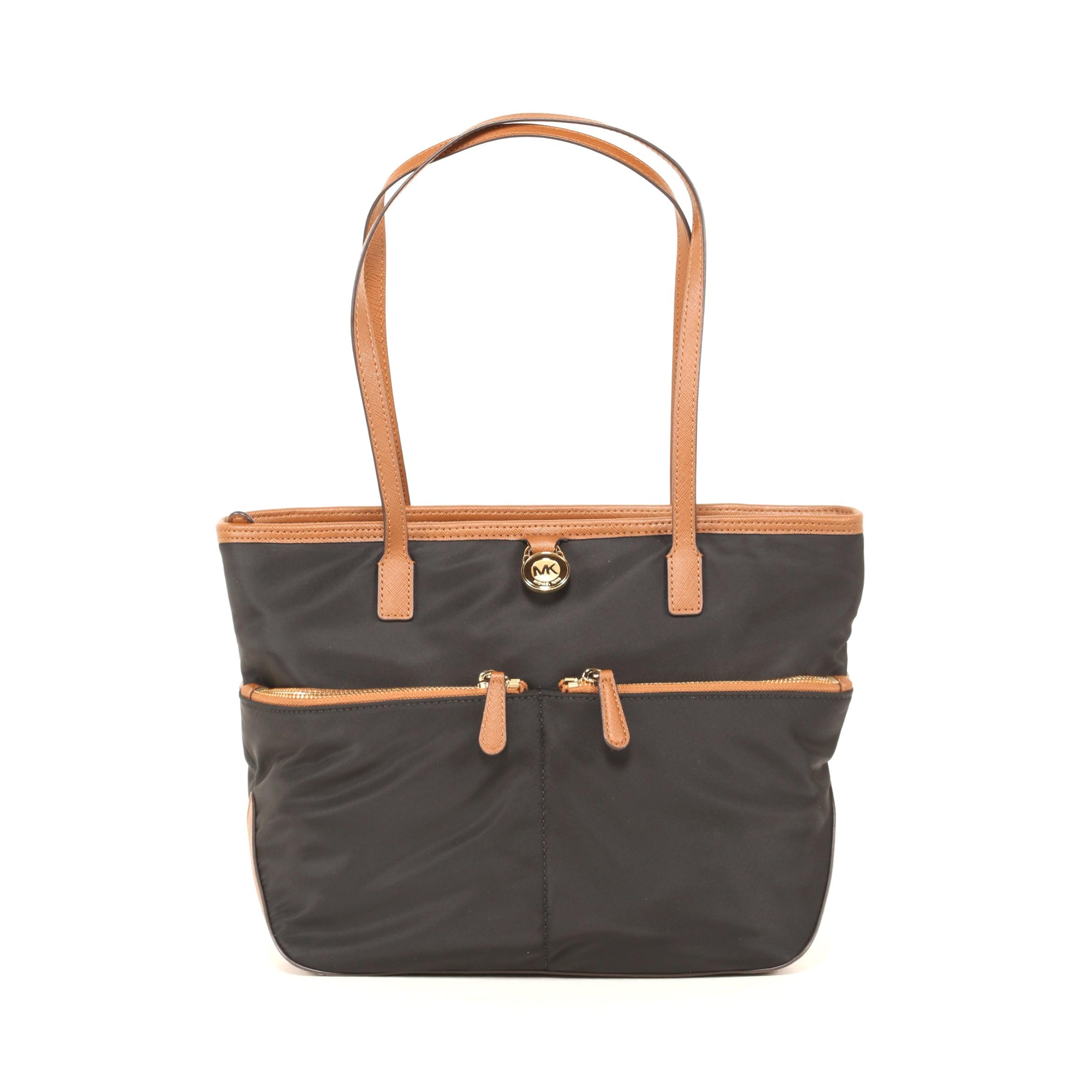 95bdfc3913d0 Shop Michael Kors Black Kempton Medium Nylon Tote Bag - Free ...
