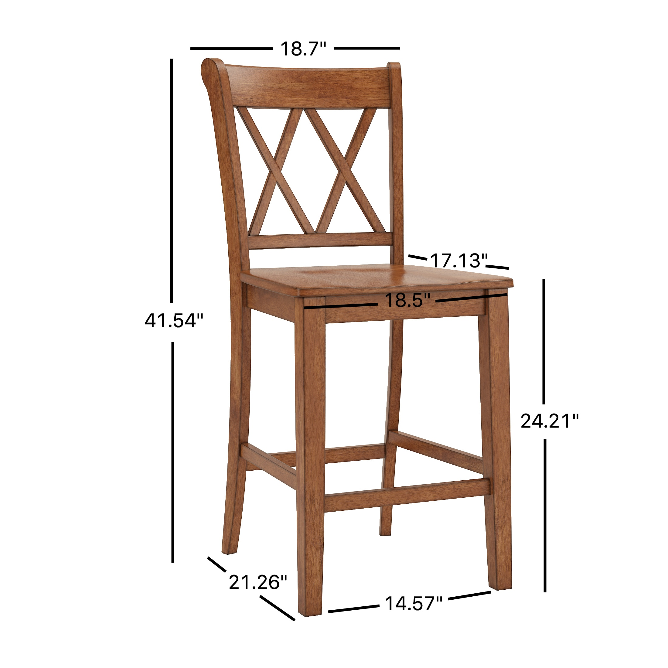 Bon Shop Eleanor Double X Back Wood 24 Inch Counter Chair (Set Of 2) By INSPIRE  Q Classic   On Sale   Free Shipping Today   Overstock.com   16916343
