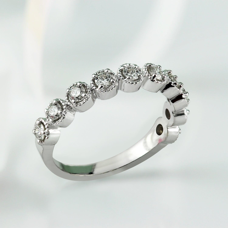 Auriya Delicate Vintage Stackable Diamond Wedding Band 13ct Tdw 10k Gold: Delicate Vintage Wedding Rings At Websimilar.org