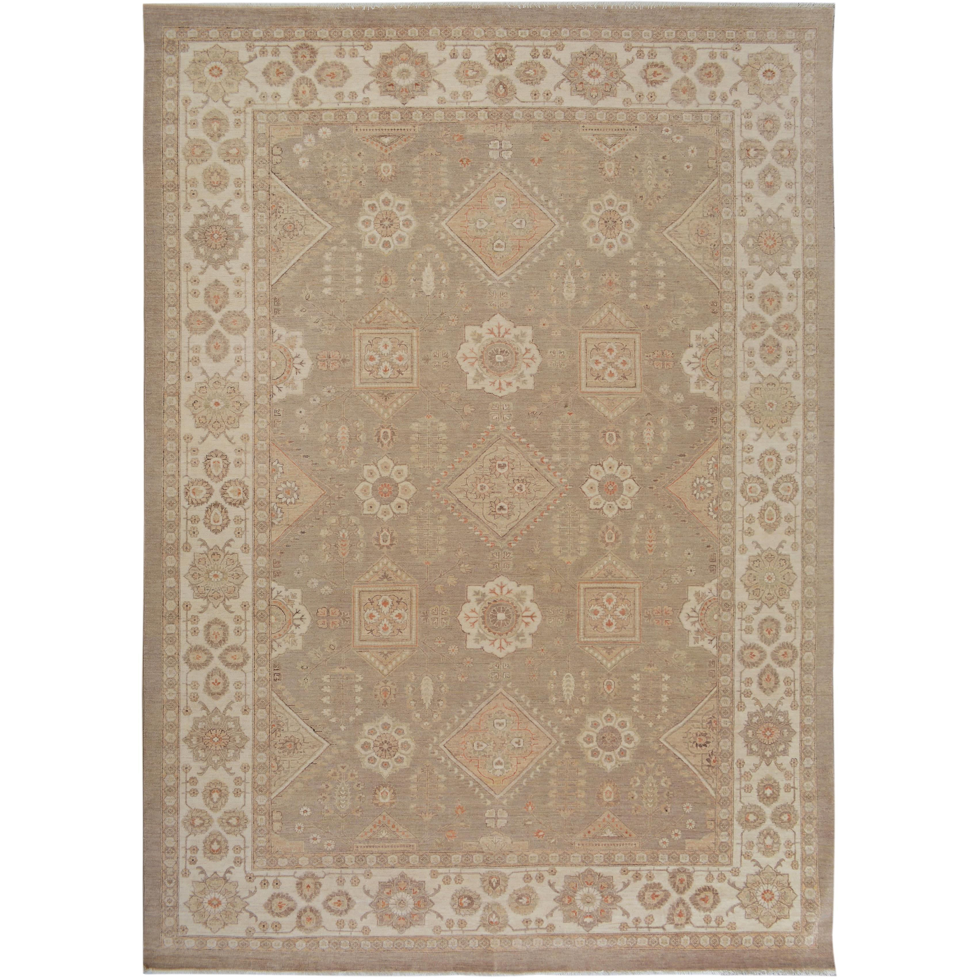 31282f9d1c6f Shop Arshs Fine Rugs Kafkaz Peshawar Clair Tan and Ivory Wool Hand-knotted  Rug (10 1x13 10) - On Sale - Free Shipping Today - Overstock.com - 16916570