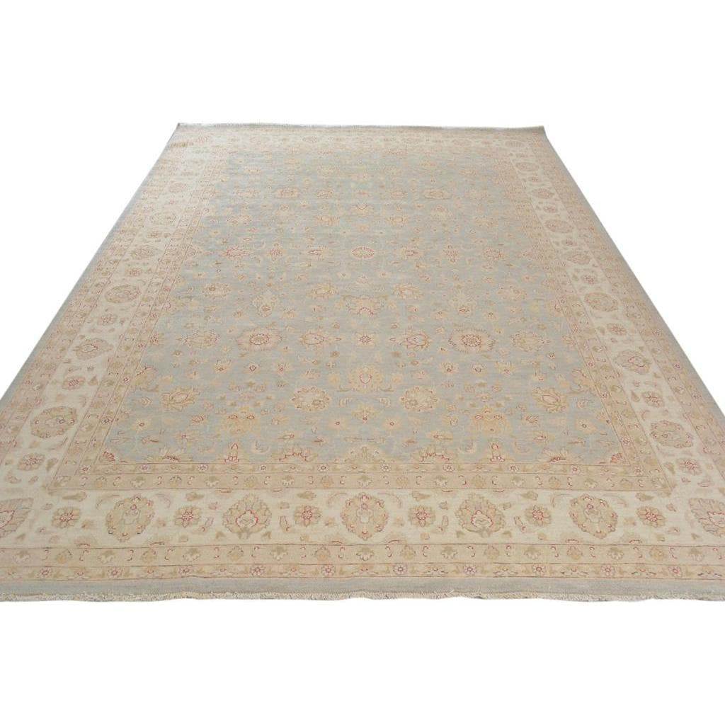 841a6e3c28a3 Shop Arshs Fine Rugs Bernie Blue and Ivory Wool Hand-knotted Kafkaz  Peshawar Rug (9 10x14 1) - Free Shipping Today - Overstock - 16916588