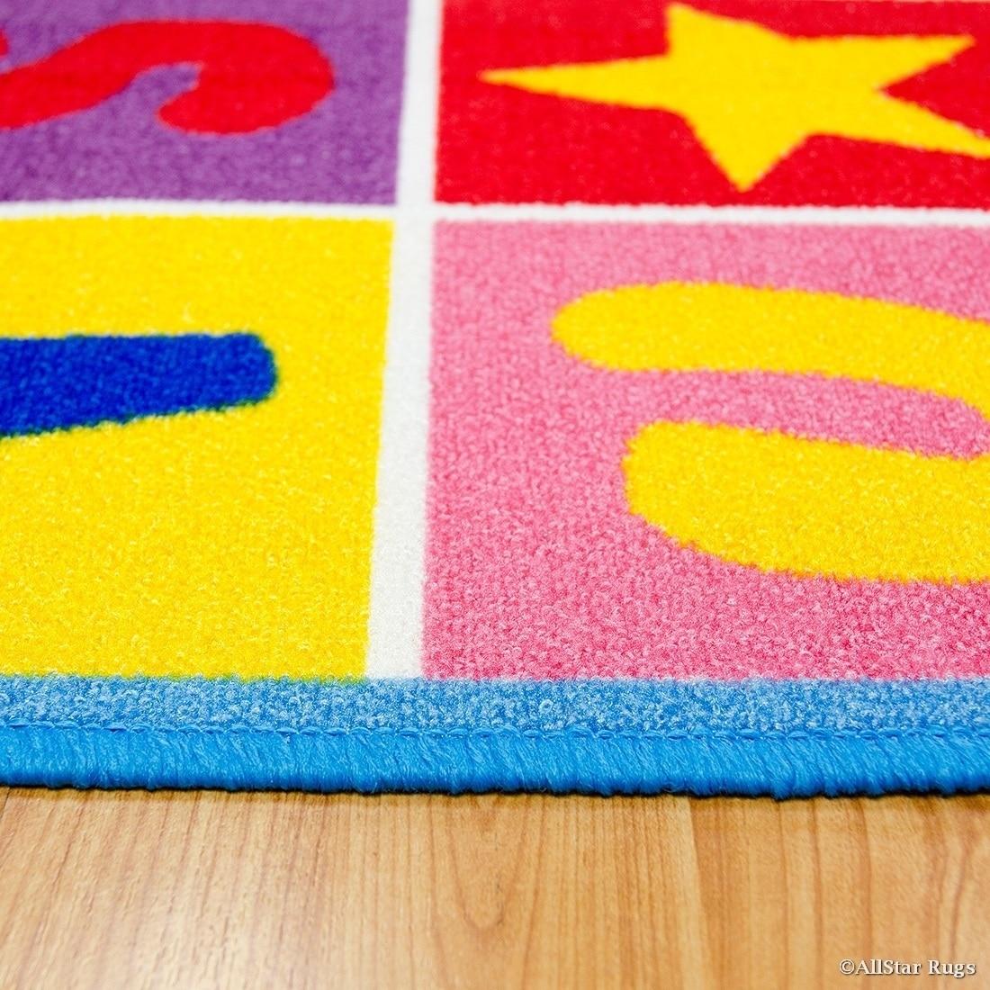 Shop Allstar Kids Letters/ Numbers/ Vibrant Colors/ Shapes Rug - 4 ...