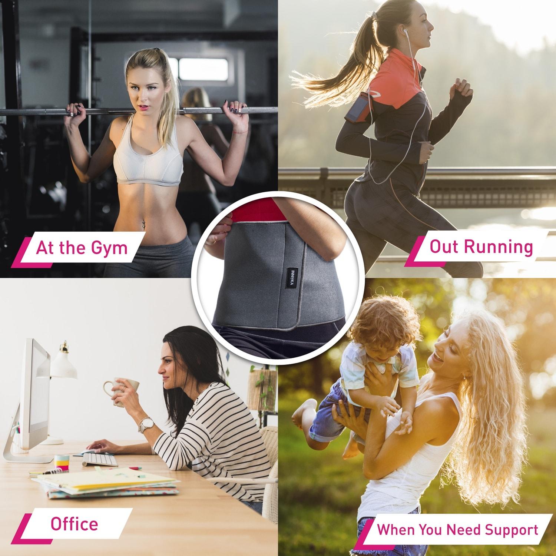 b0298de51e1 Shop INNOKA Grey Fat Burning Super Sweat Fitness Waist Trimmer Belt Waist  Trainer Slimmer Belt for Men and Women - Free Shipping On Orders Over  45  ...