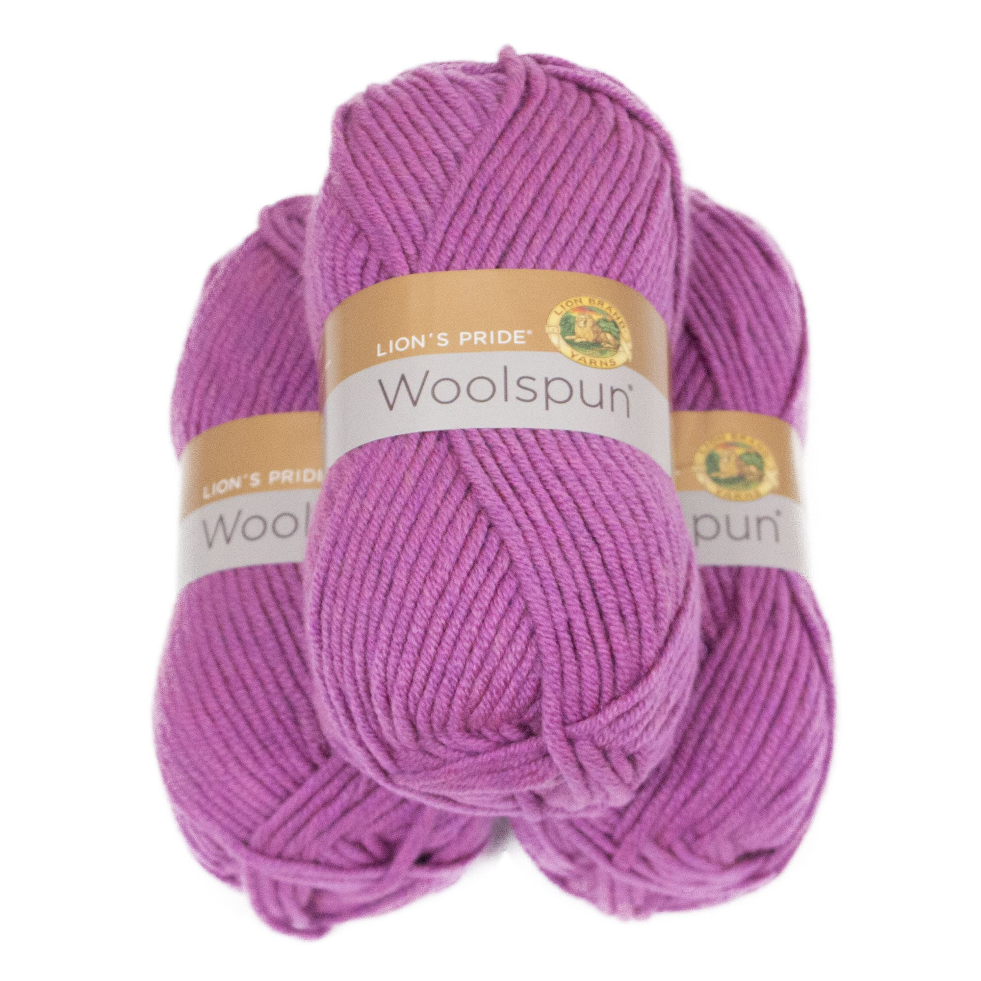 Shop Lion Brand Yarn Lions Pride Woolspun Orchid 671 142 3 Pack