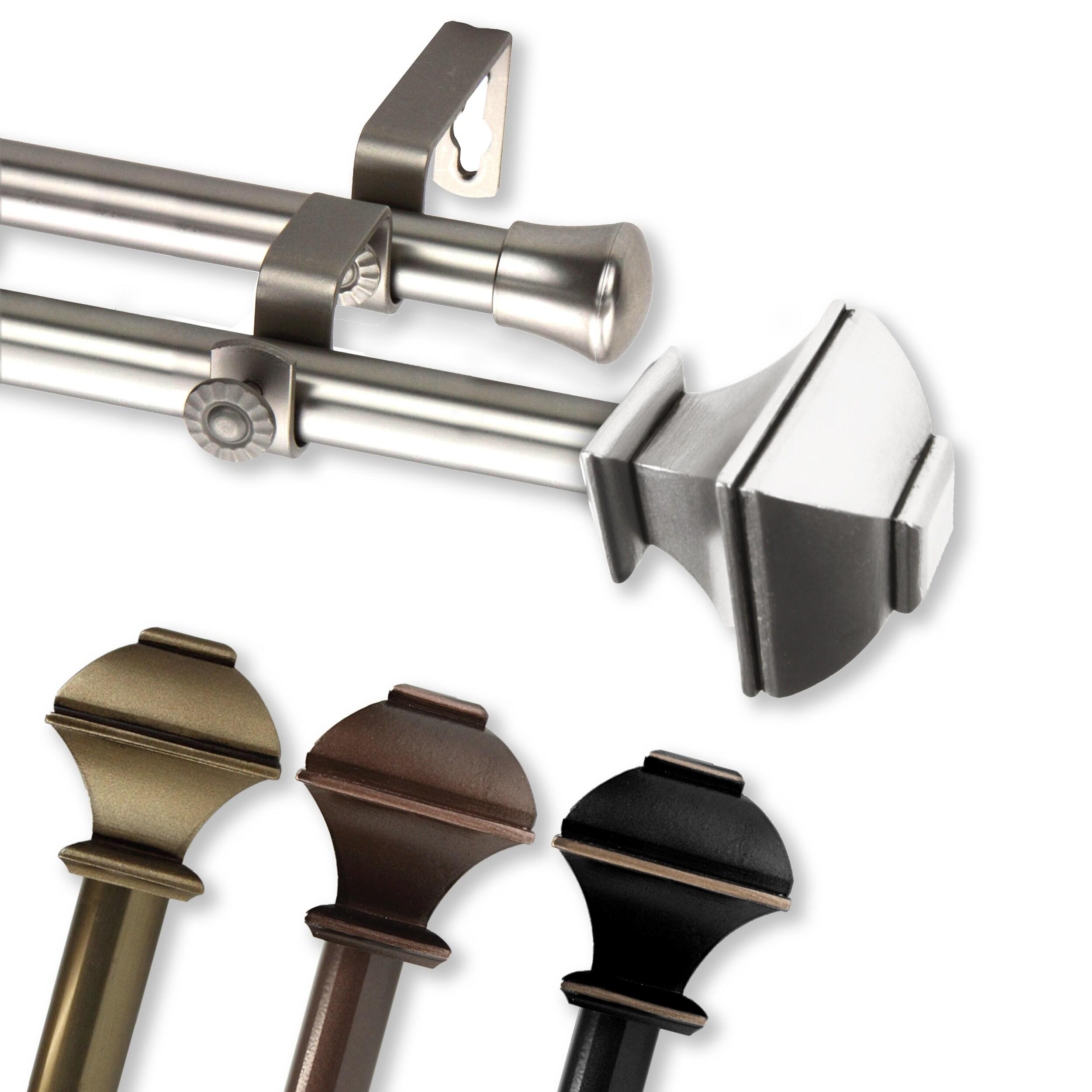 Shop Instyledesign Eugene Adjustable Double Curtain Rod On Sale
