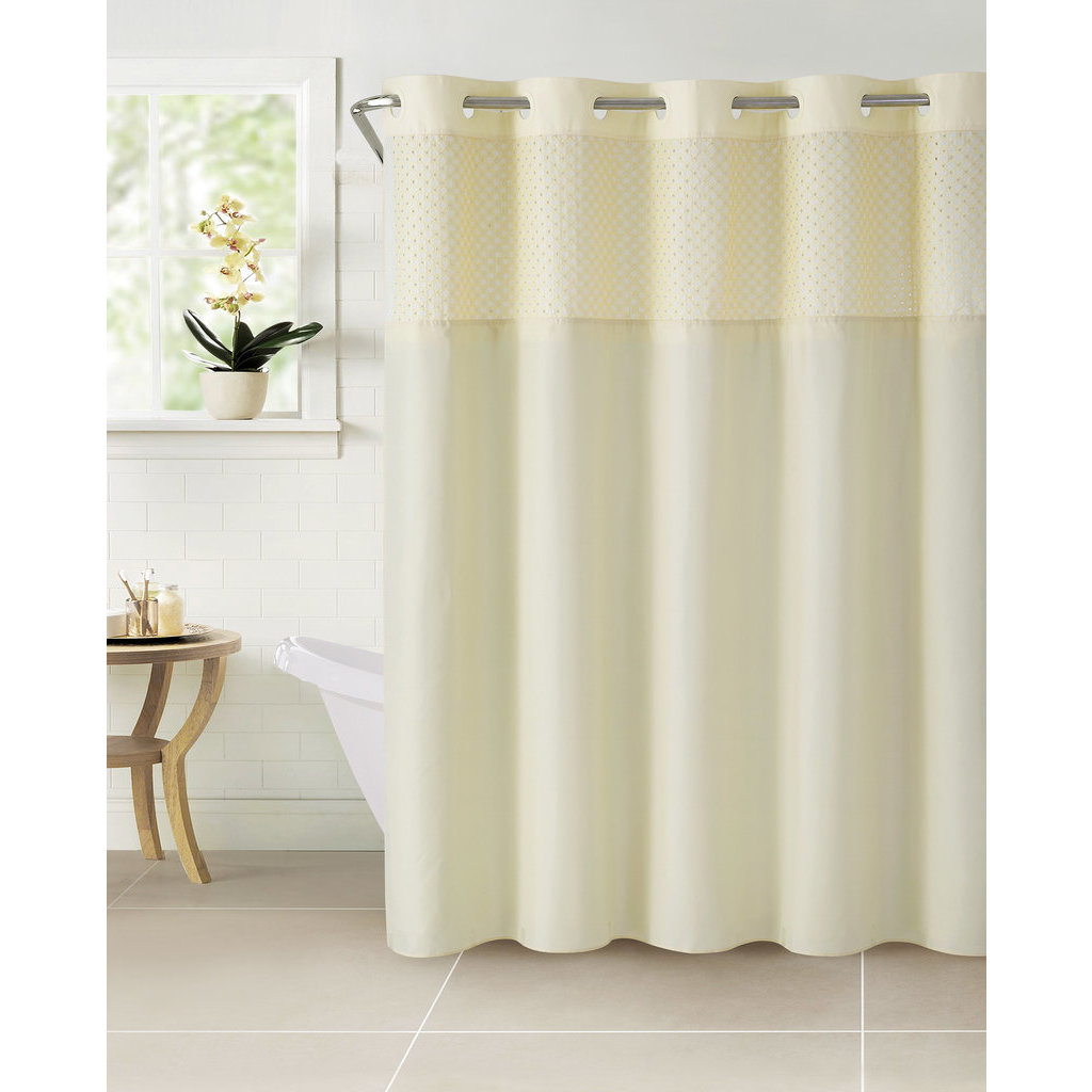 Shop Hookless Bahamas Shower Curtain with Snap-On Liner - Free ...