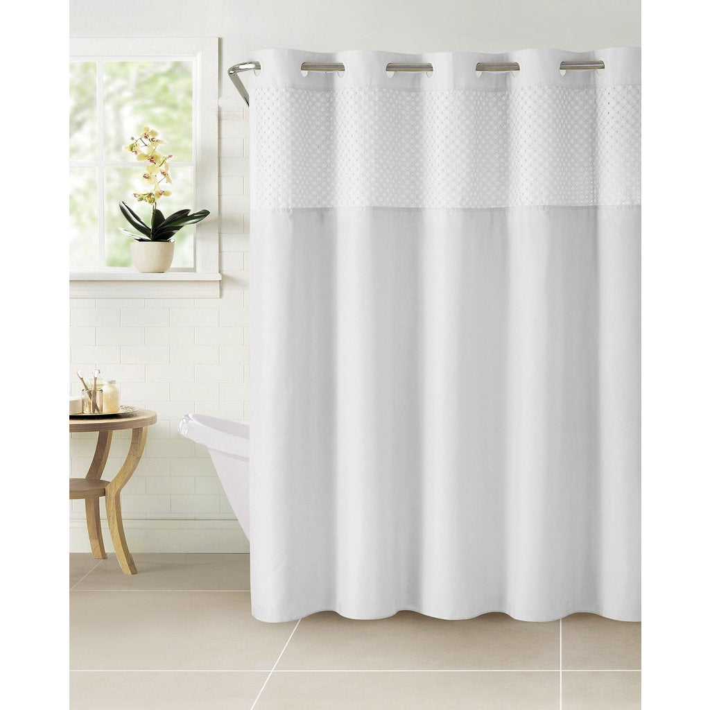 4c85c44763654 Hookless Bahamas Shower Curtain with Snap-On Liner