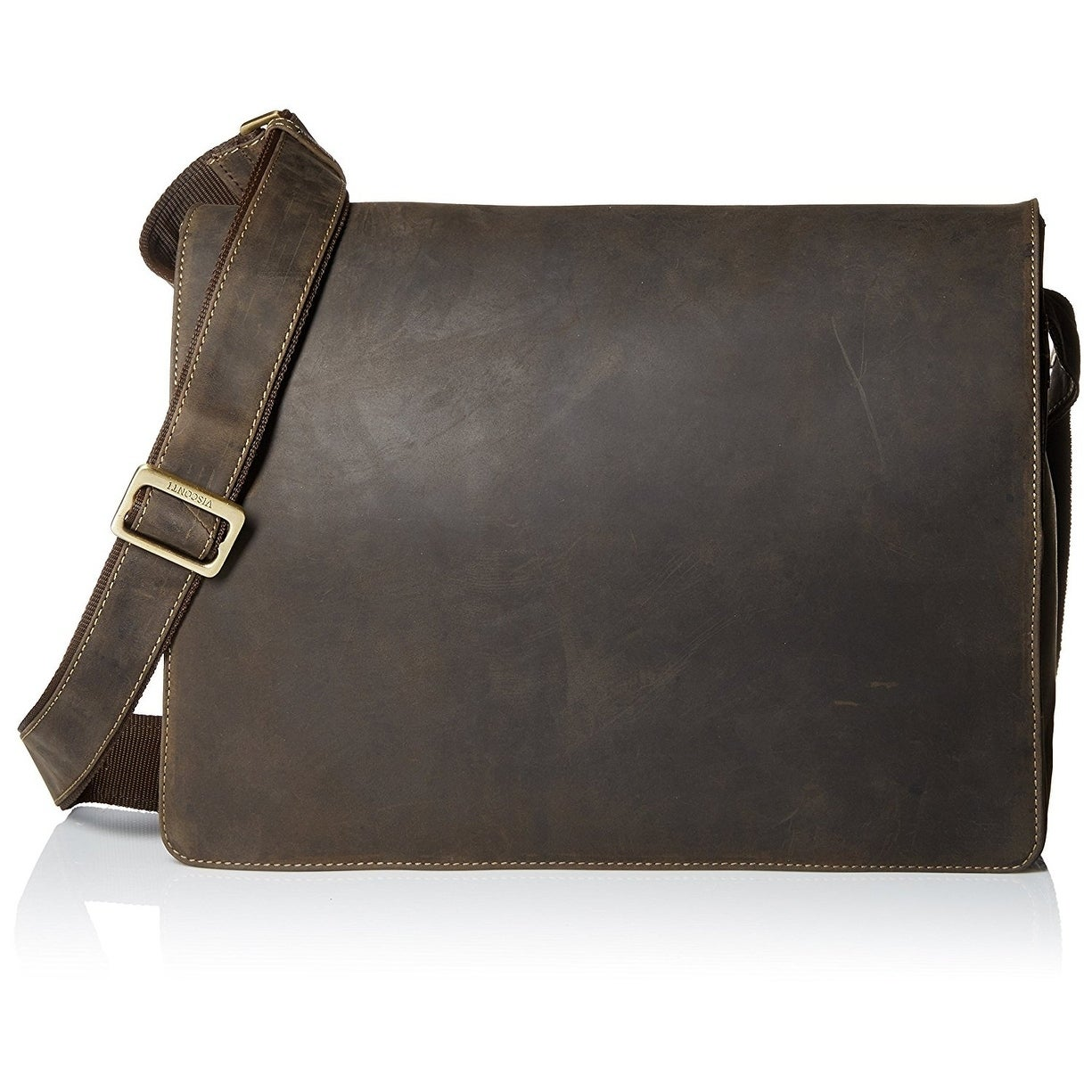 Visconti Distressed Leather Messenger Bag On Free Shipping Today 16935182