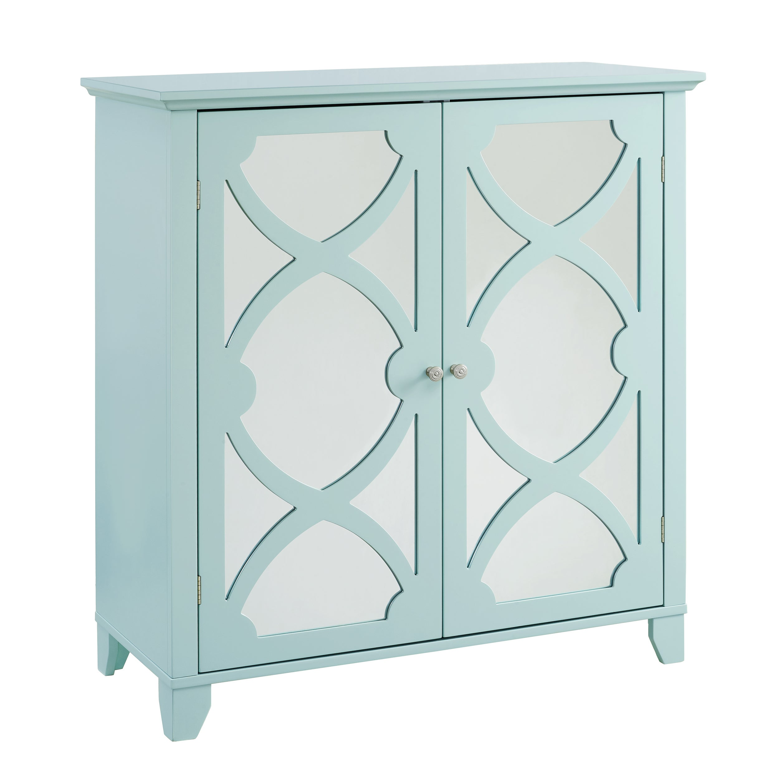 Shop Winnie Seafoam Large Cabinet with Mirrored Door - Free Shipping ...