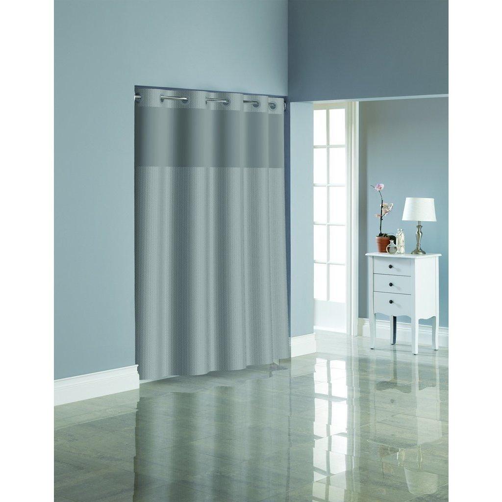 Shop Hookless Herringbone Shower Curtain - Free Shipping Today ...