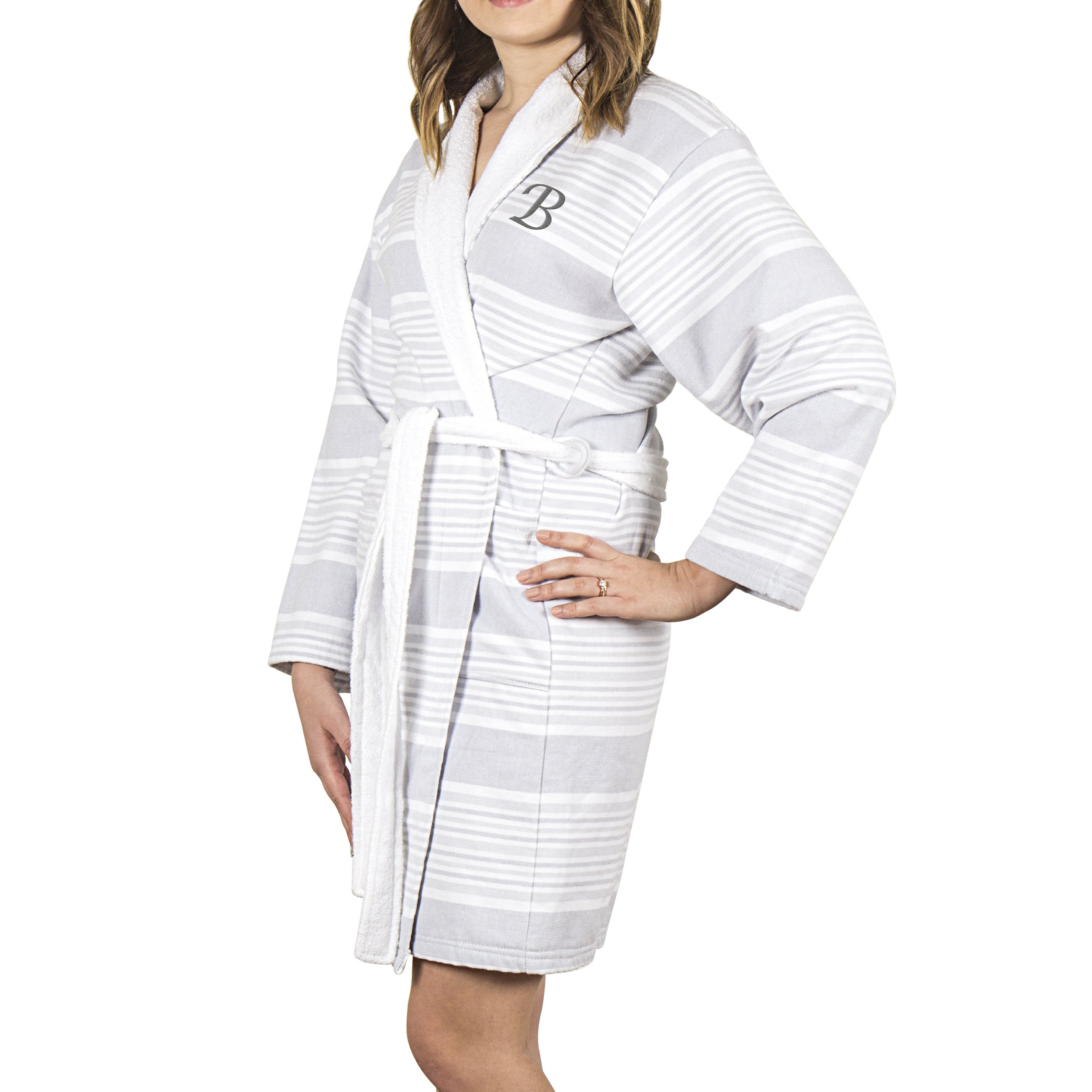 714f07edbe Shop Personalized Turkish Cotton Bath Robe - Free Shipping Today -  Overstock - 16936181
