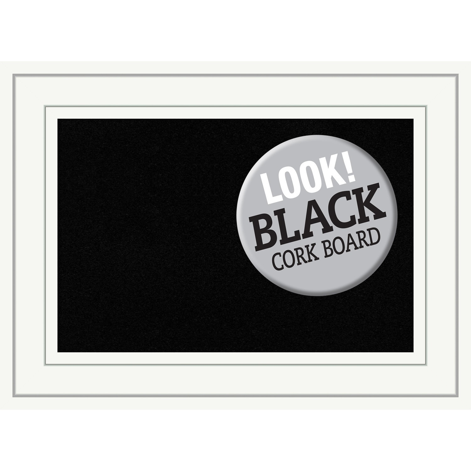 Framed Black Cork Board, Craftsman White - Free Shipping Today ...