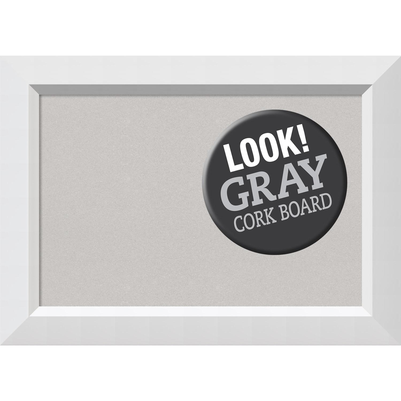 Shop Framed Grey Cork Board, Blanco White - Free Shipping Today ...