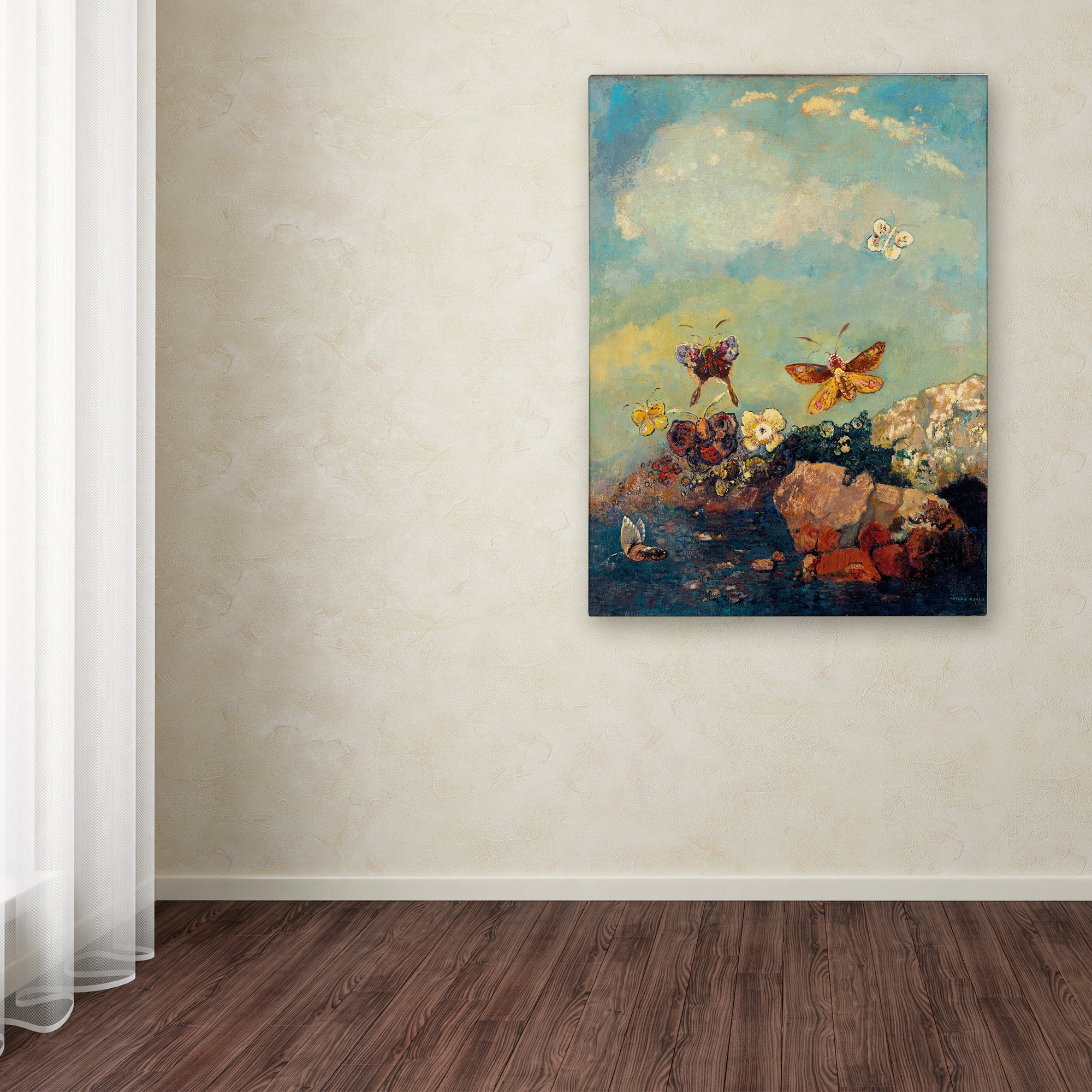 Odilon Redon \'Butterflies\' Canvas Art - Free Shipping On Orders Over ...