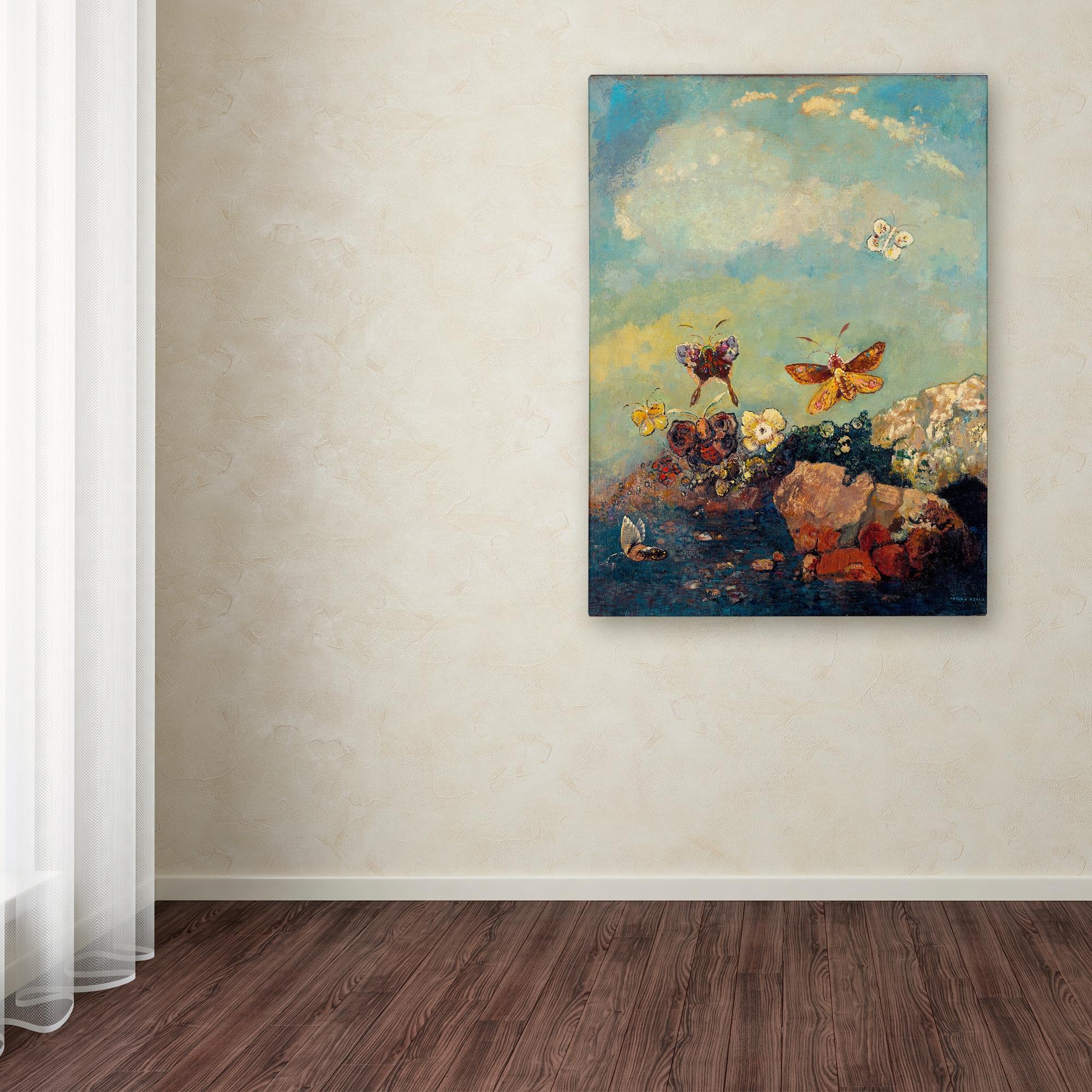 Shop Odilon Redon \'Butterflies\' Canvas Art - On Sale - Ships To ...