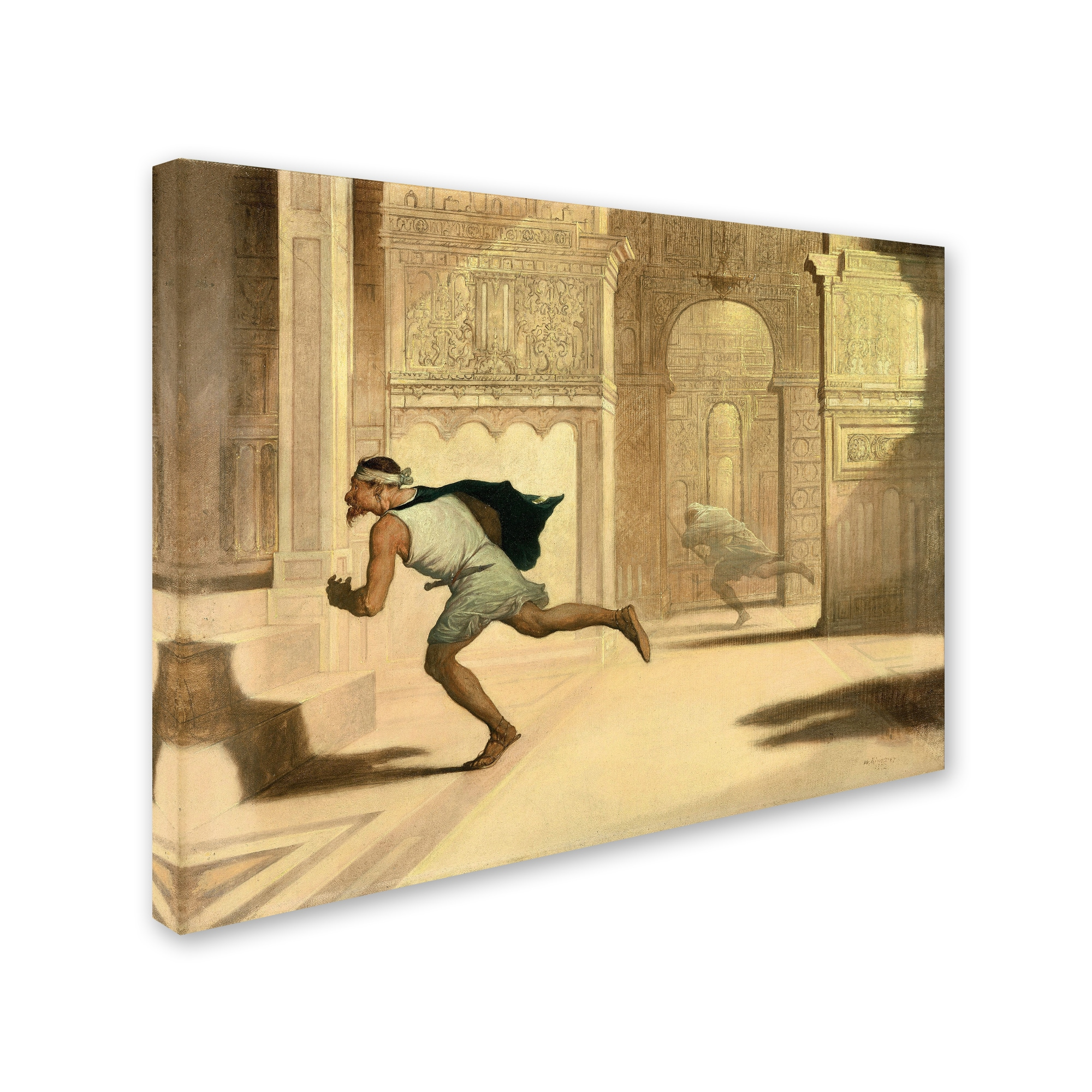 Shop William Rimmer \'Flight And Pursuit\' Canvas Art - On Sale - Free ...