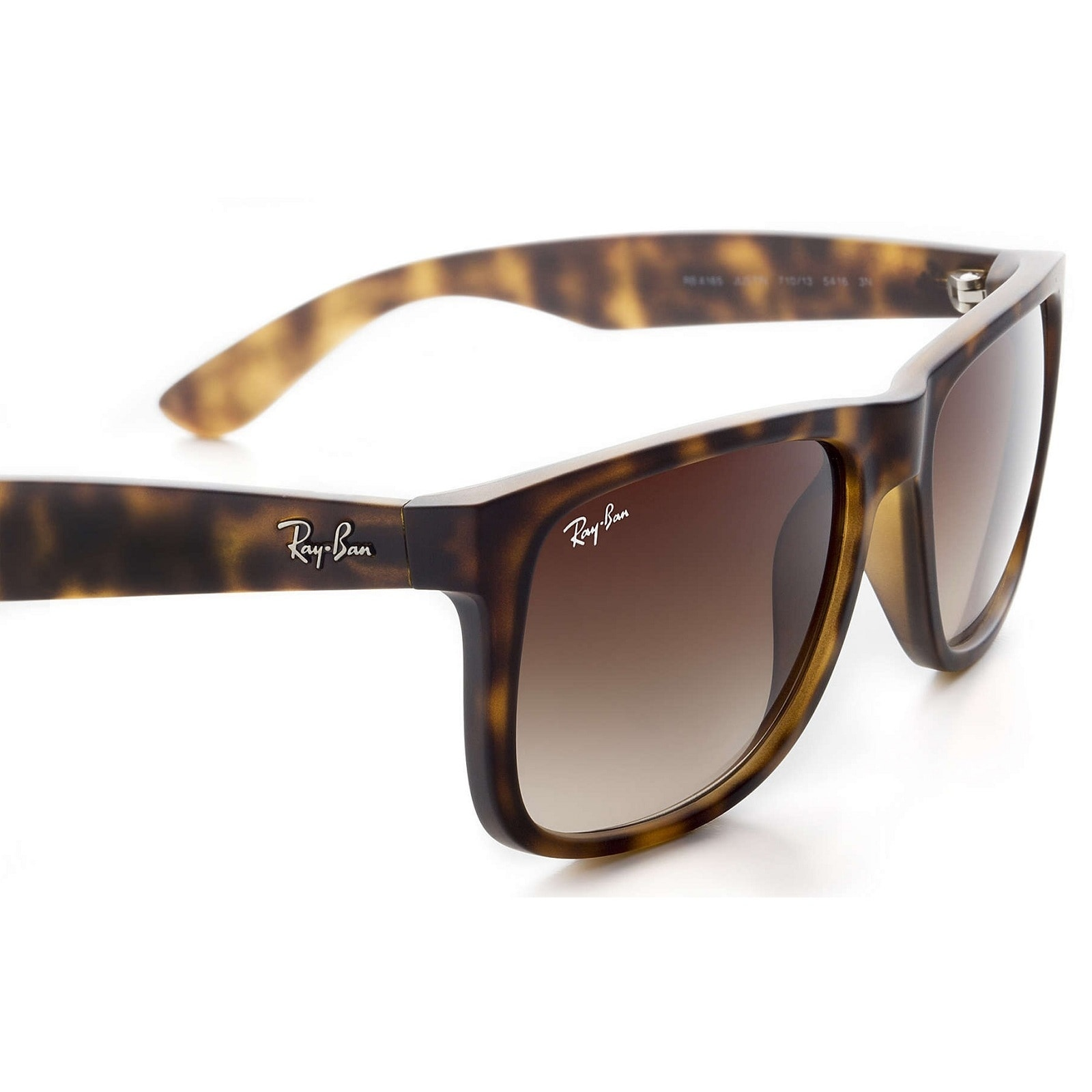56d0d92a42 Shop Ray-Ban Justin RB4165 Men s Tortoise Frame Brown Gradient 55mm Lens  Sunglasses - Free Shipping Today - Overstock.com - 16944877