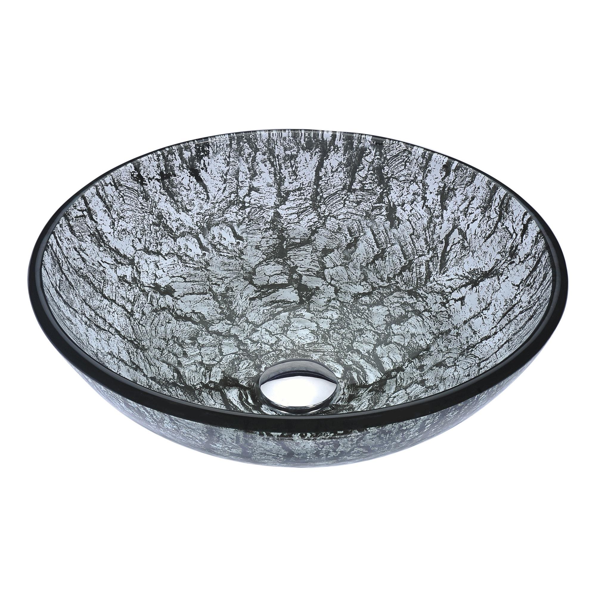 Shop Anzzi Posh Series Verdure Silver Deco-glass Vessel Sink - Free ...