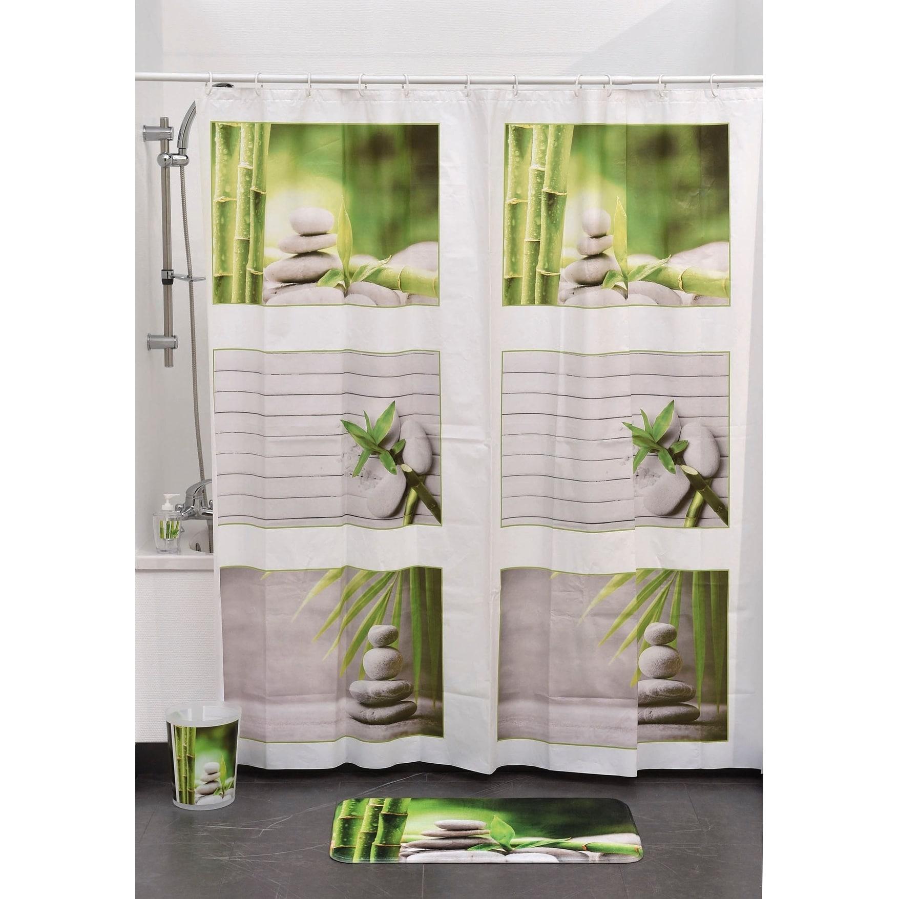 Shop Evideco Bathroom Printed Peva Liner Shower Curtain Zen and Co ...
