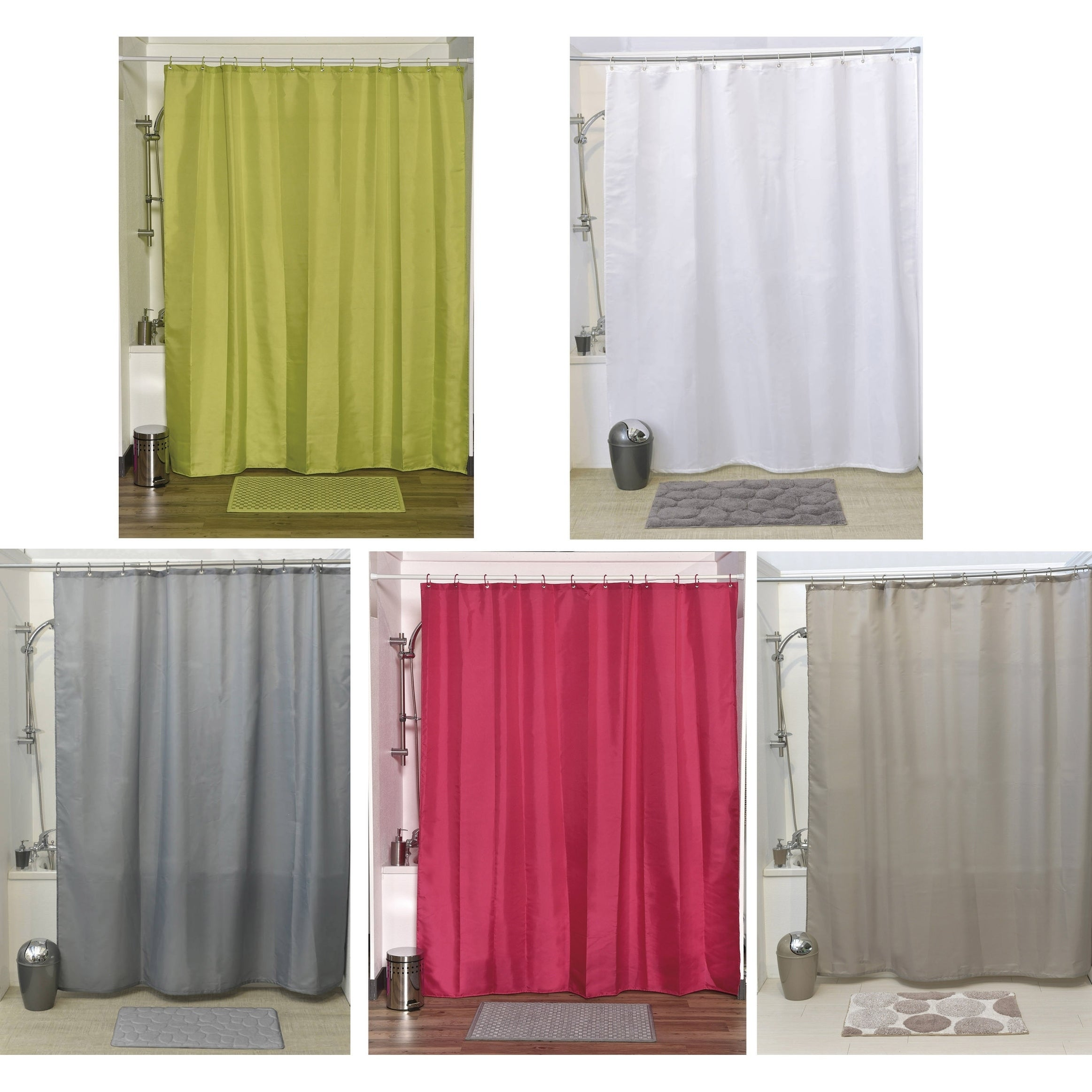 Shop Evideco Shower Curtain Fabric Polyester with 12 Color Matching ...