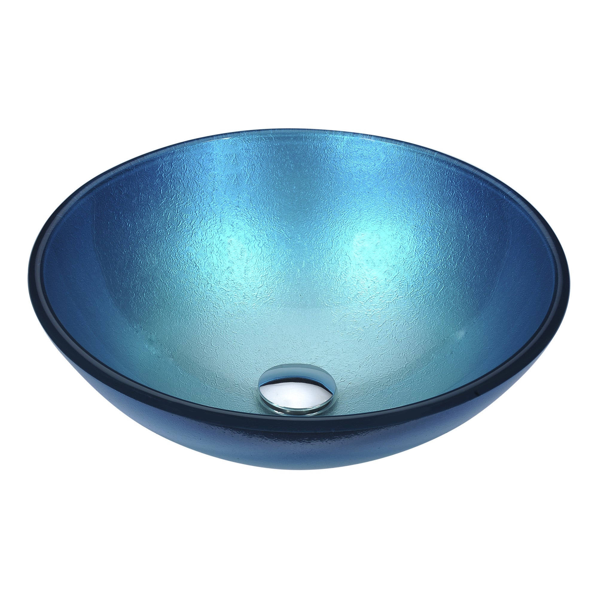 Anzzi Posh Series Silver Blue Deco-glass Vessel Sink - Free Shipping ...