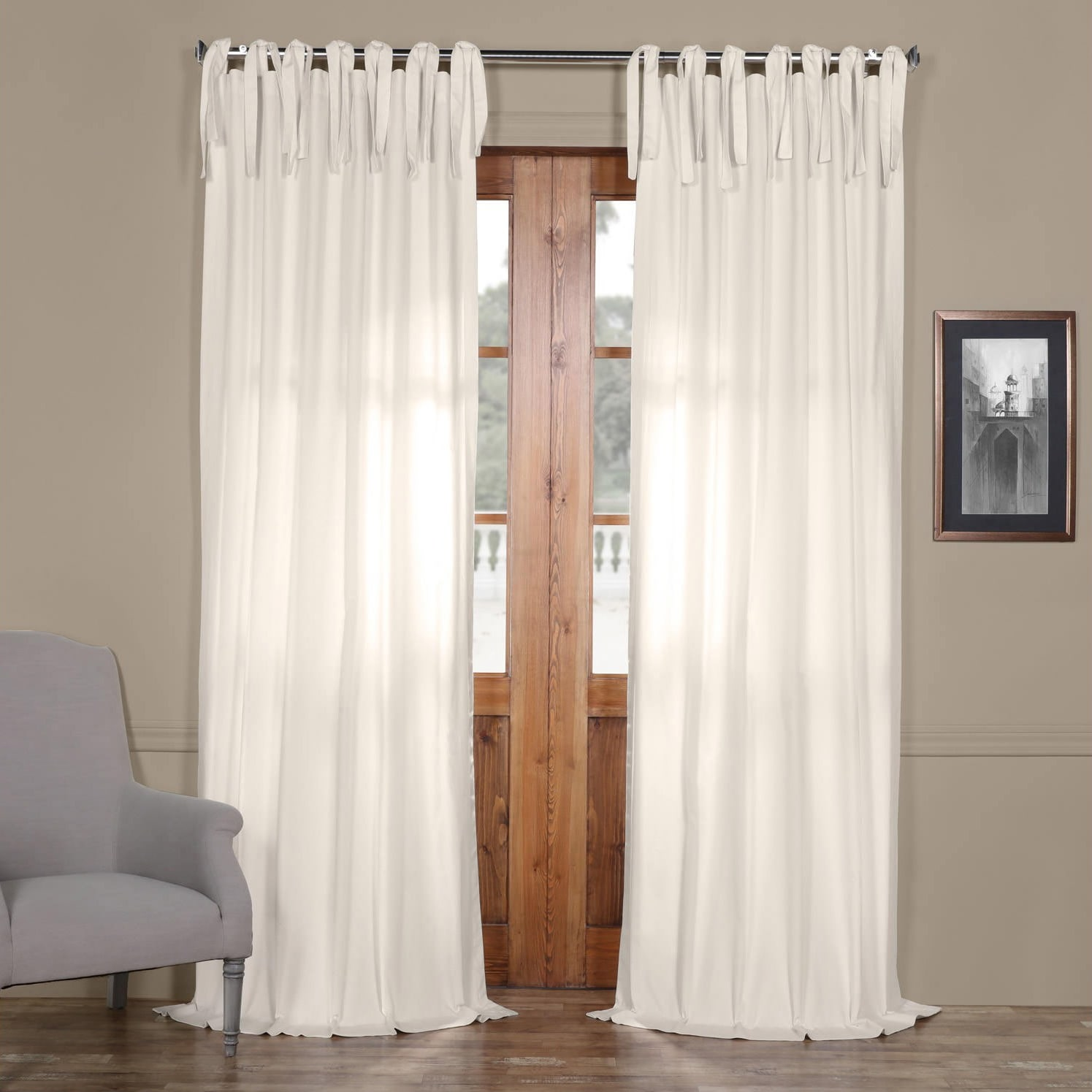 kitchen drapes l amazon tie curtain gauze linen sheer com white w top x sahara home dp