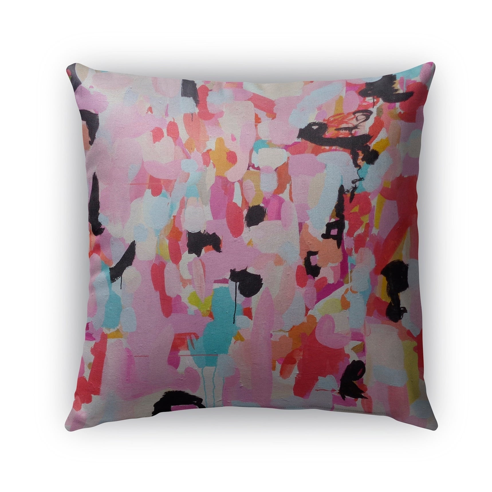 Kavka Designs Pink Blue Black Red Charm Dripper Outdoor Pillow