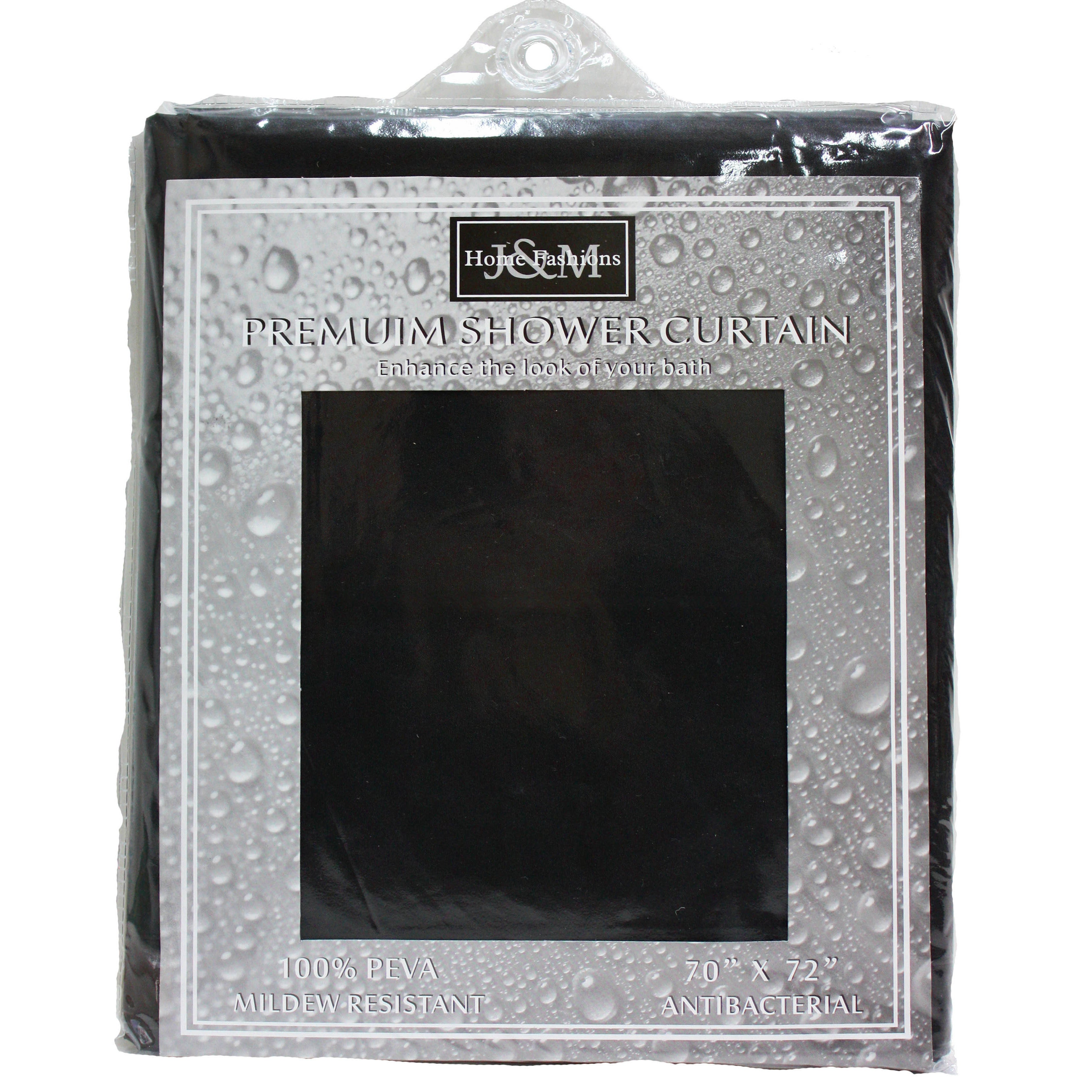 Shop J M Home Fashions Solid Shower Curtain