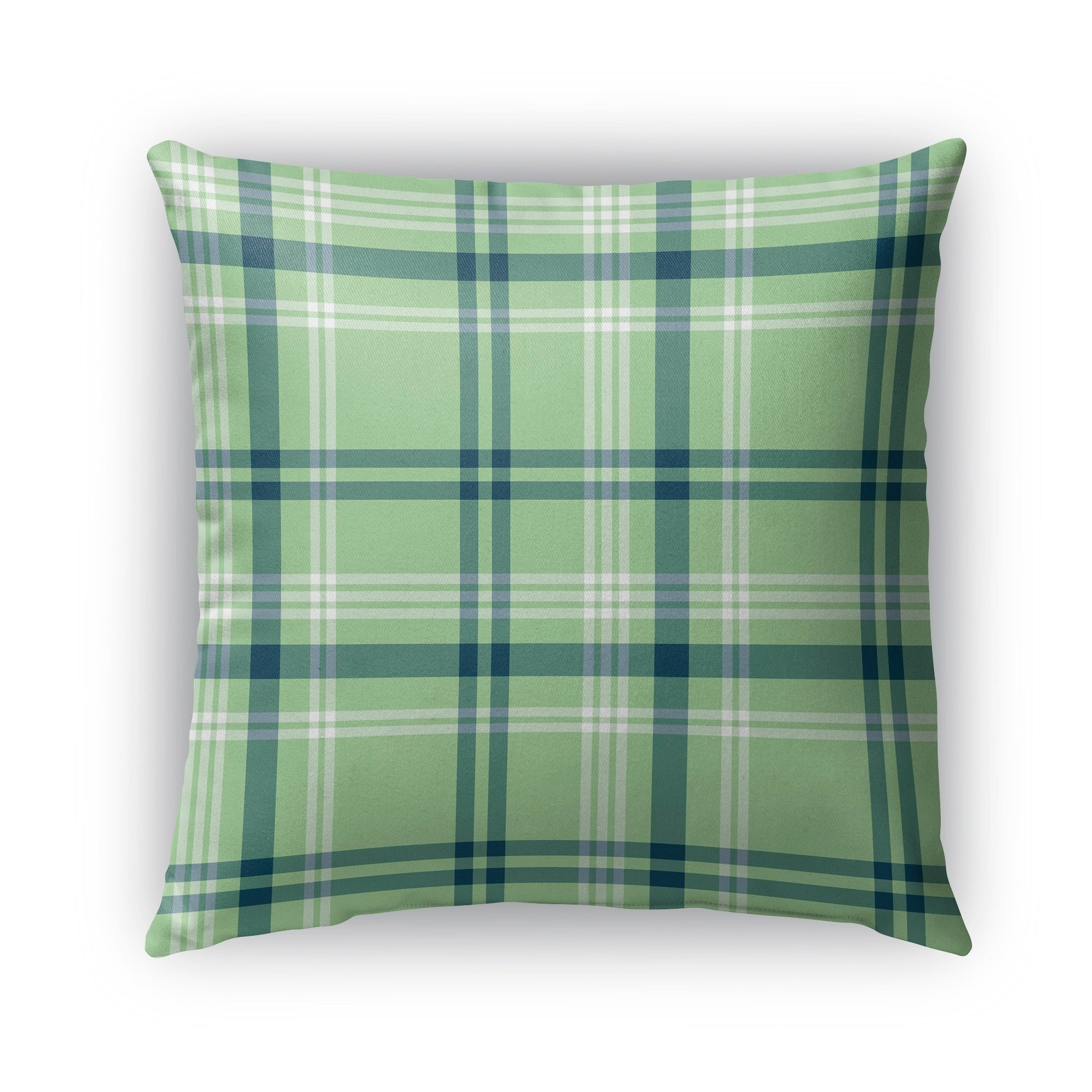 c26fa98c032 Shop Kavka Designs green  blue plaid coral navy mint outdoor pillow with  insert - Free Shipping On Orders Over  45 - Overstock - 16963441