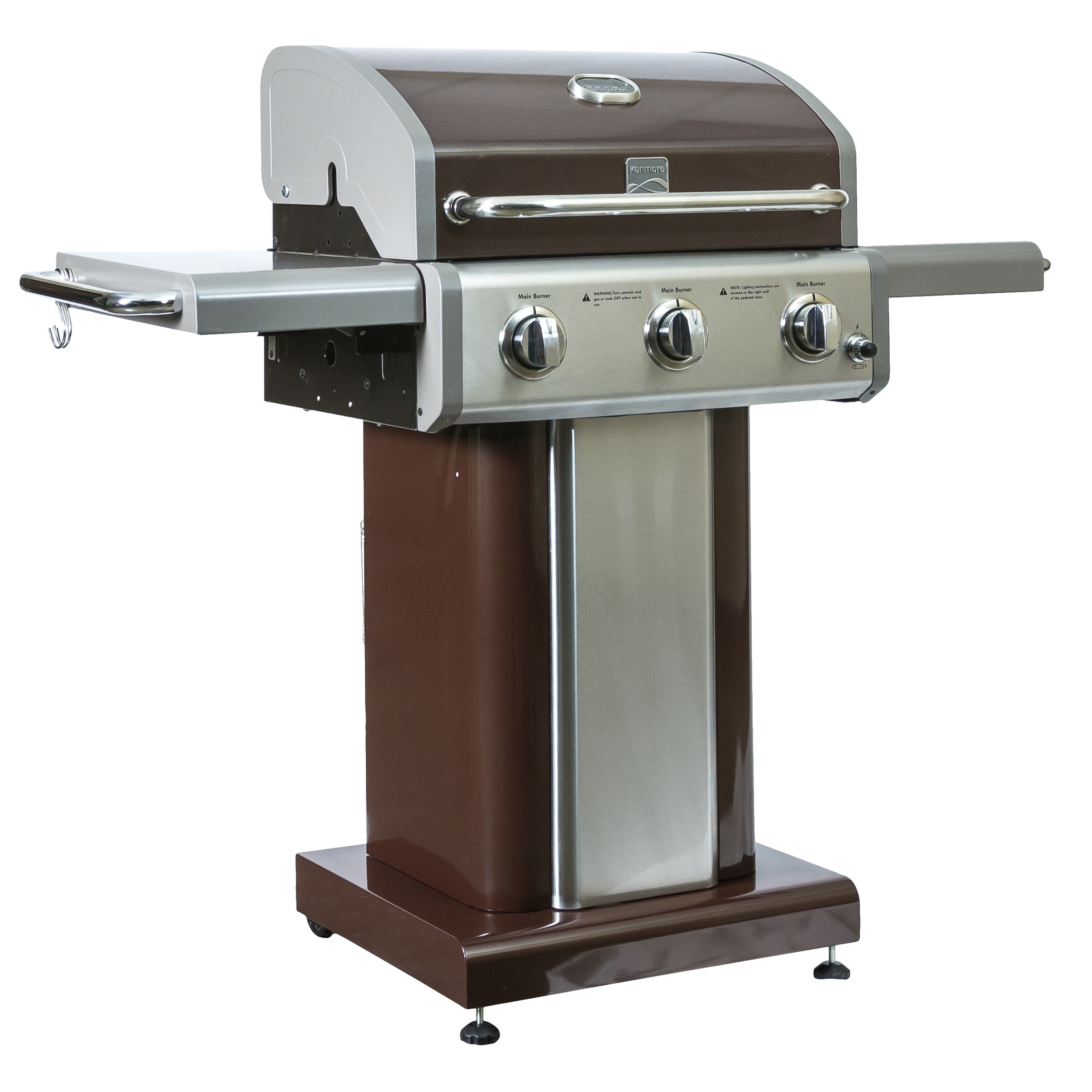 Shop Kenmore 3 Burner Pedestal Grill - product size:1298*613*1145mm, - Free  Shipping Today - Overstock.com - 16964383