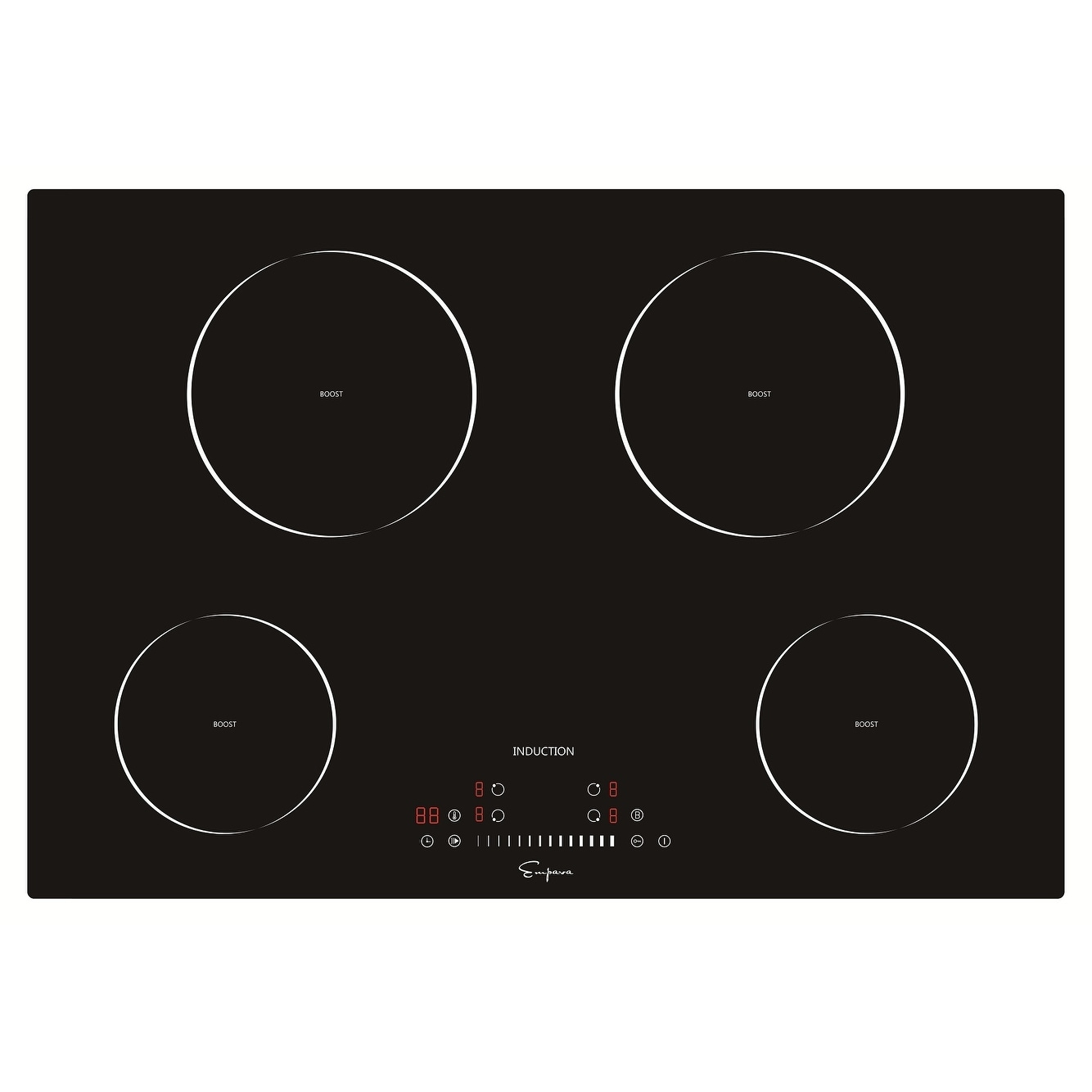 Empava 30 4 Booster Burners Tempered Gl Electric Induction Cooktop Free Shipping Today 16964511