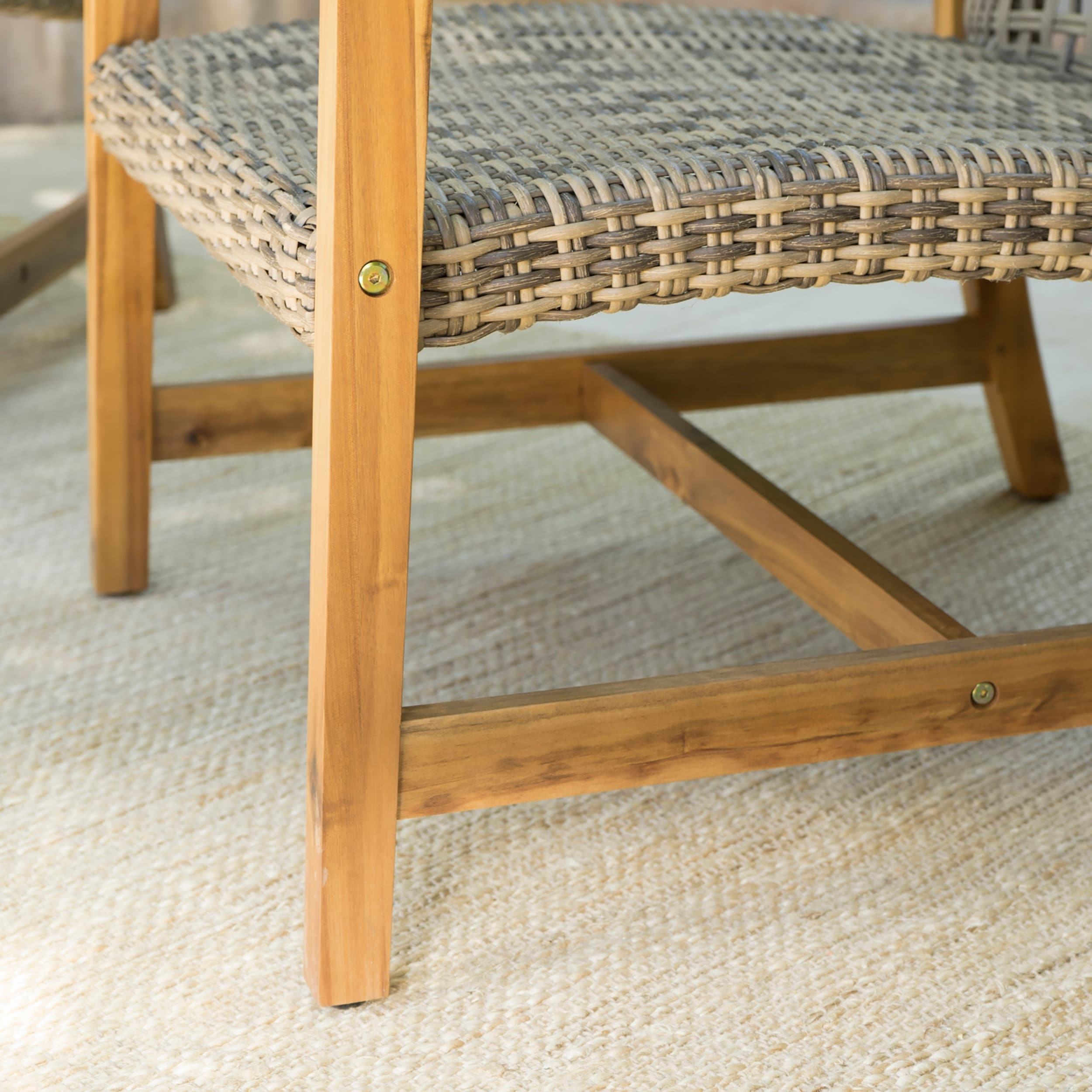 Shop Hampton Outdoor Mid Century Wicker Club Chair (Set Of 2) By  Christopher Knight Home   On Sale   Free Shipping Today   Overstock.com    16983327