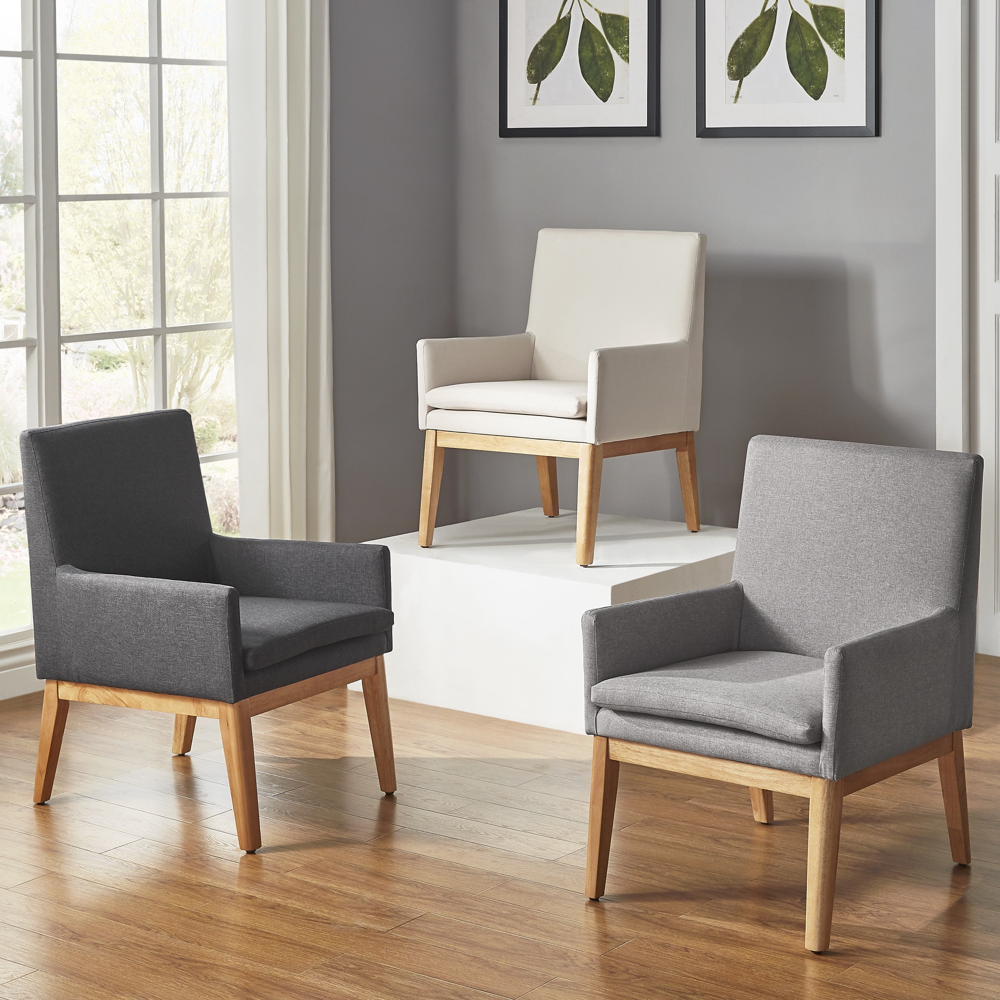 Parker Mid-Century Light Oak Accent Chairs (Set of 2) by iNSPIRE Q Modern -  Free Shipping Today - Overstock.com - 23269450