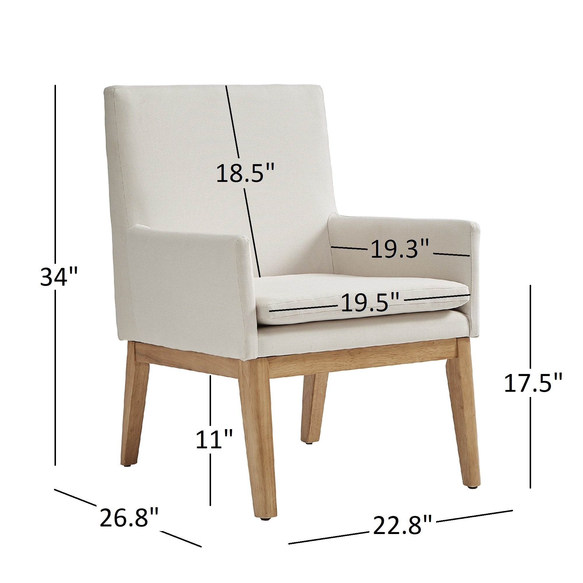 Shop Parker Mid Century Light Oak Accent Chairs (Set Of 2) By INSPIRE Q  Modern   Free Shipping Today   Overstock.com   16985898