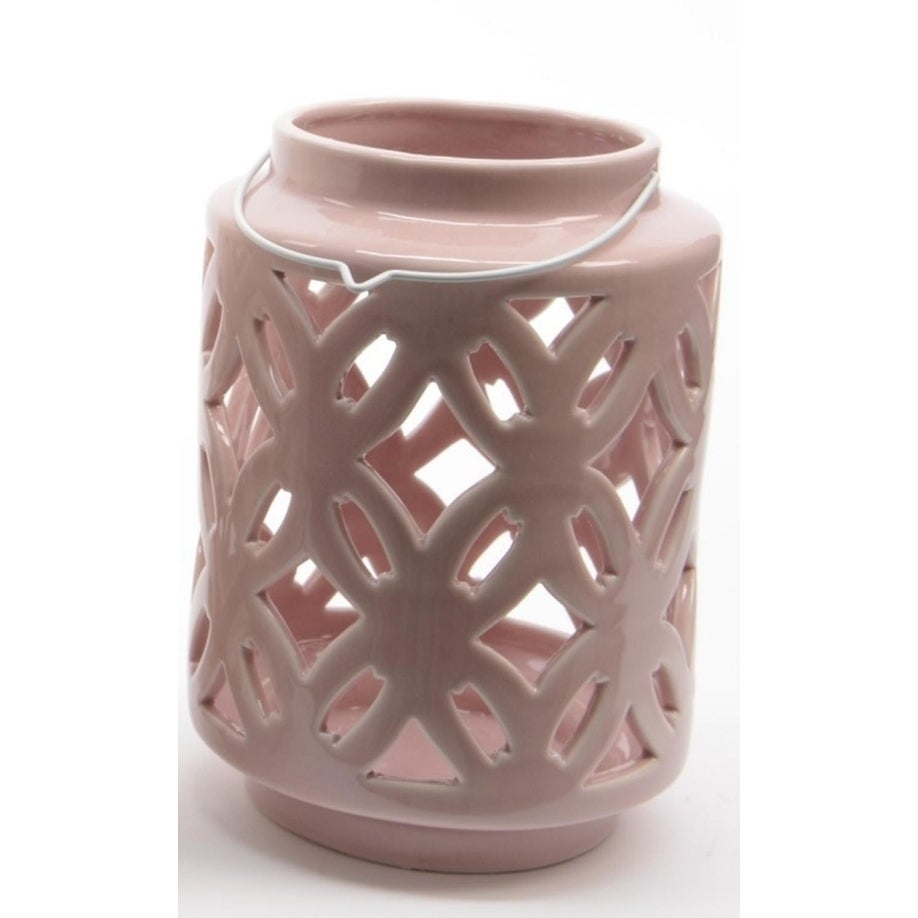 7 City Chic Pastel Pink Fl Cut Out Porcelain Tea Light Candle Holder Free Shipping Today 16986562