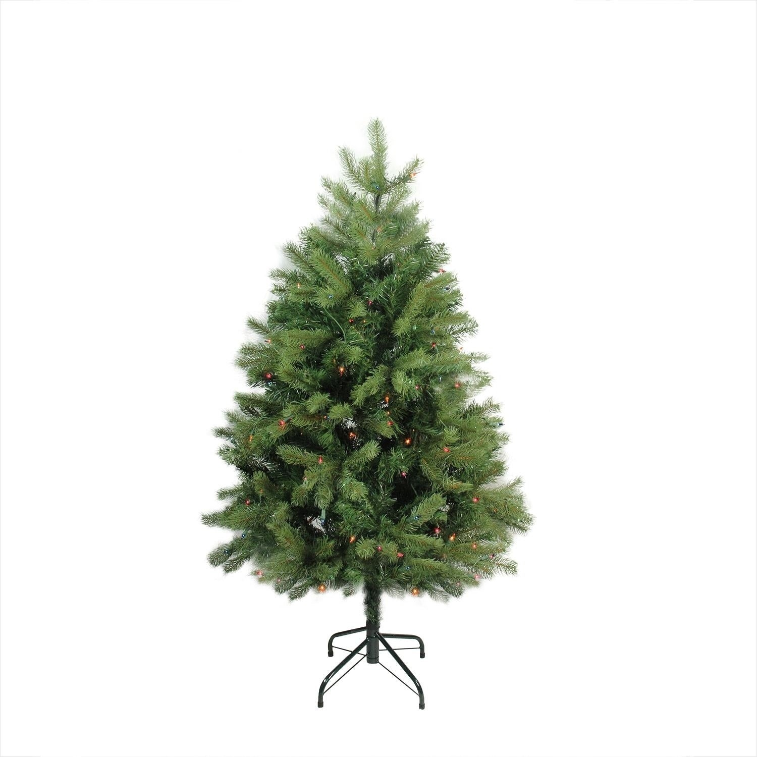 Most Realistic Artificial Christmas Tree.4 Pre Lit Noble Fir Full Artificial Christmas Tree Multi Color Lights