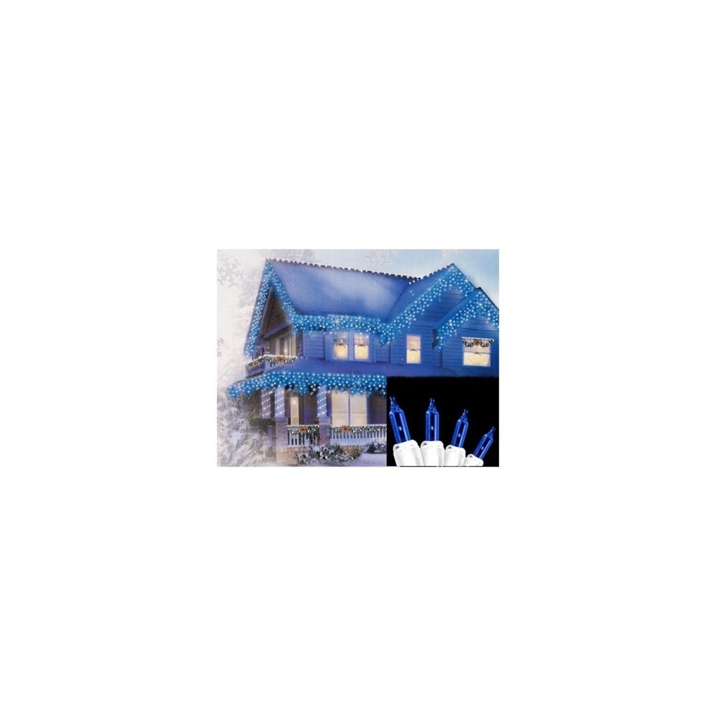 Shop Set of 300 Blue Mini Icicle Christmas Lights 3\