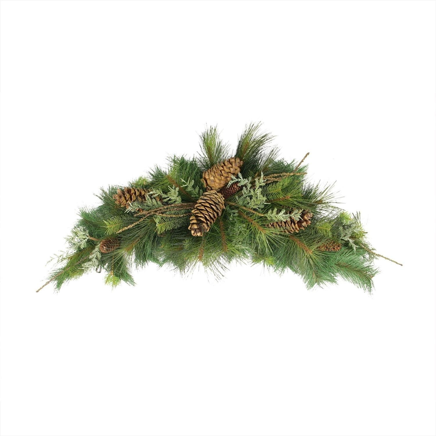 """Shop 38"""" Pine Cone, Twig, Mixed Long Needle Pine Artificial Christmas Swag - Unilt - Free Shipping Today - Overstock - 16991051"""