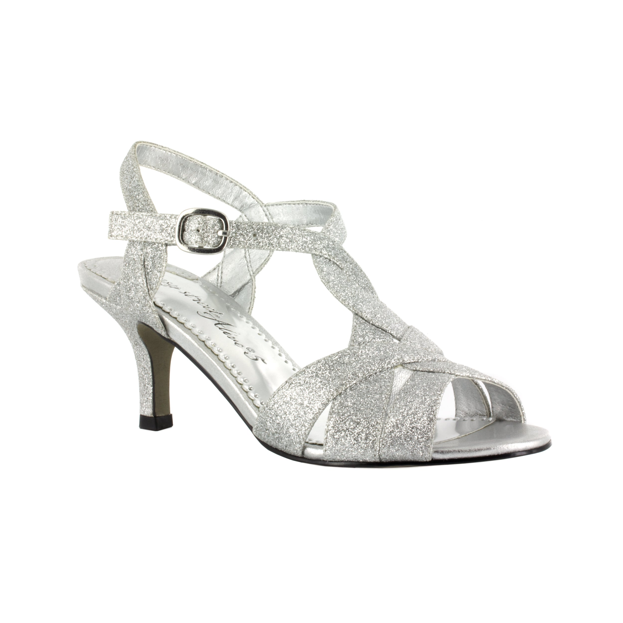 f9af36acbb29 Shop Easy Street Women s Glamorous Evening Shoe (Silver Glitter ...