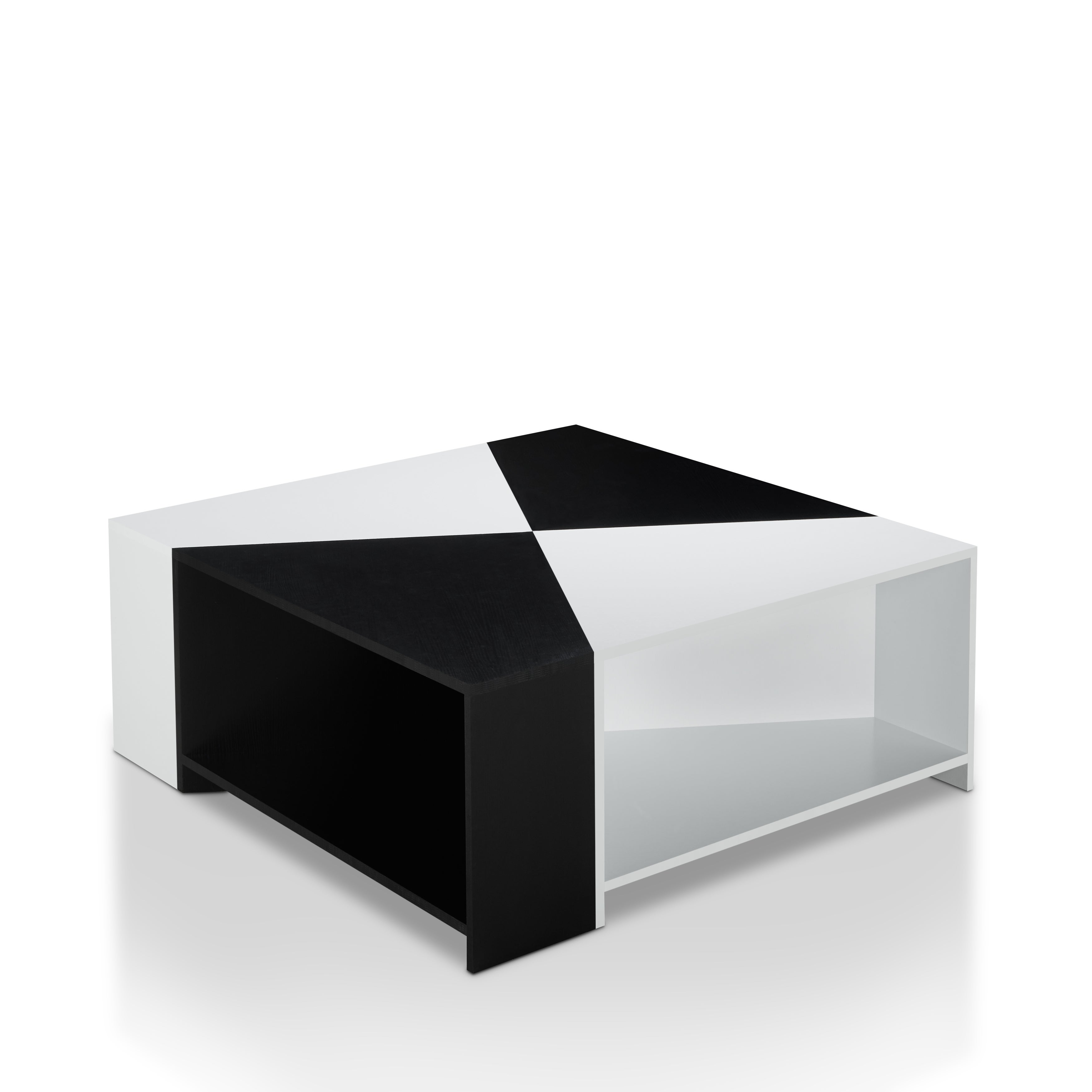 Furniture of America Clerington Modern Two tone Black White