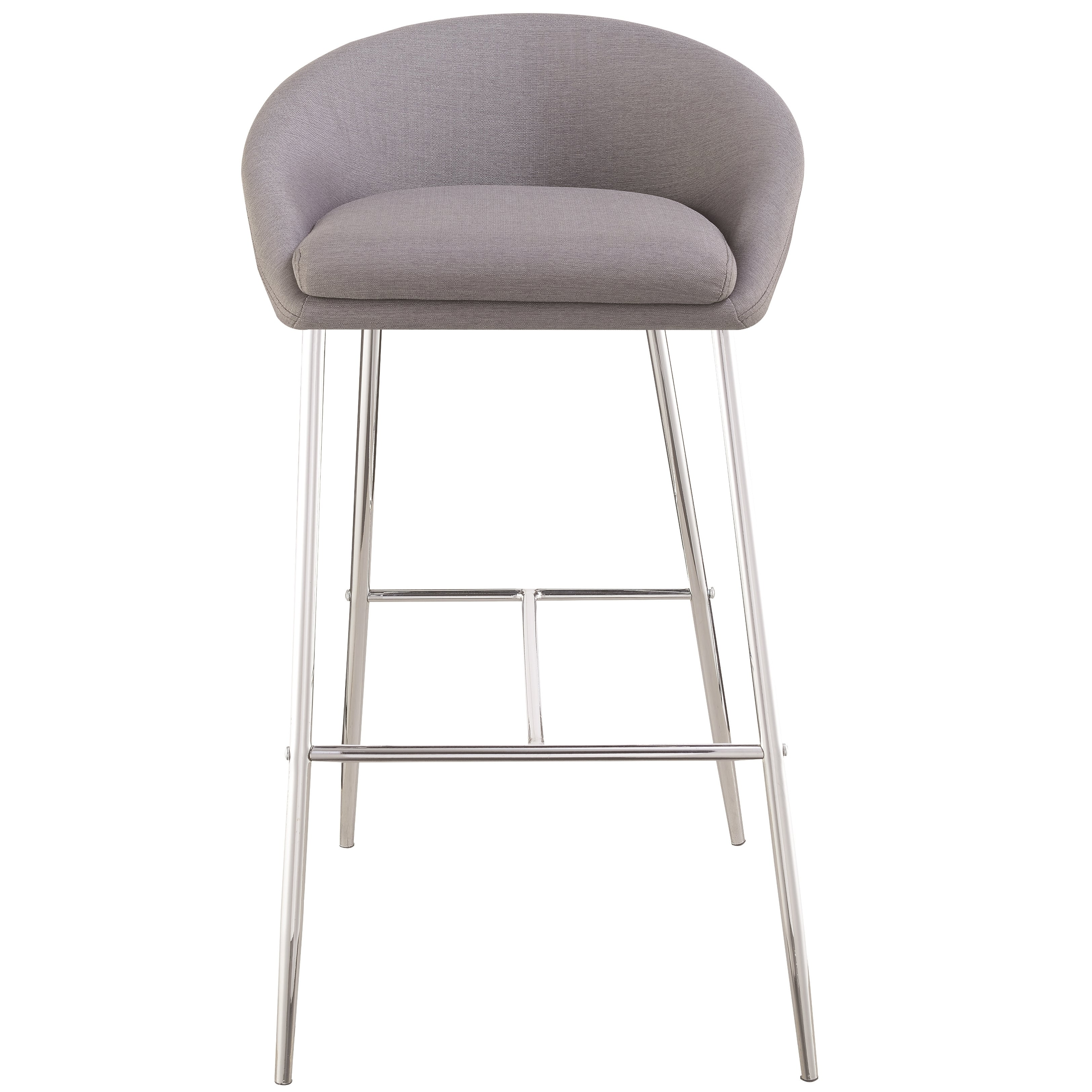 Captivating Modern Design Grey Woven Fabric Bar Stools With Sleek Chrome Base (Set Of  2)   Free Shipping Today   Overstock.com   23277928 Nice Look