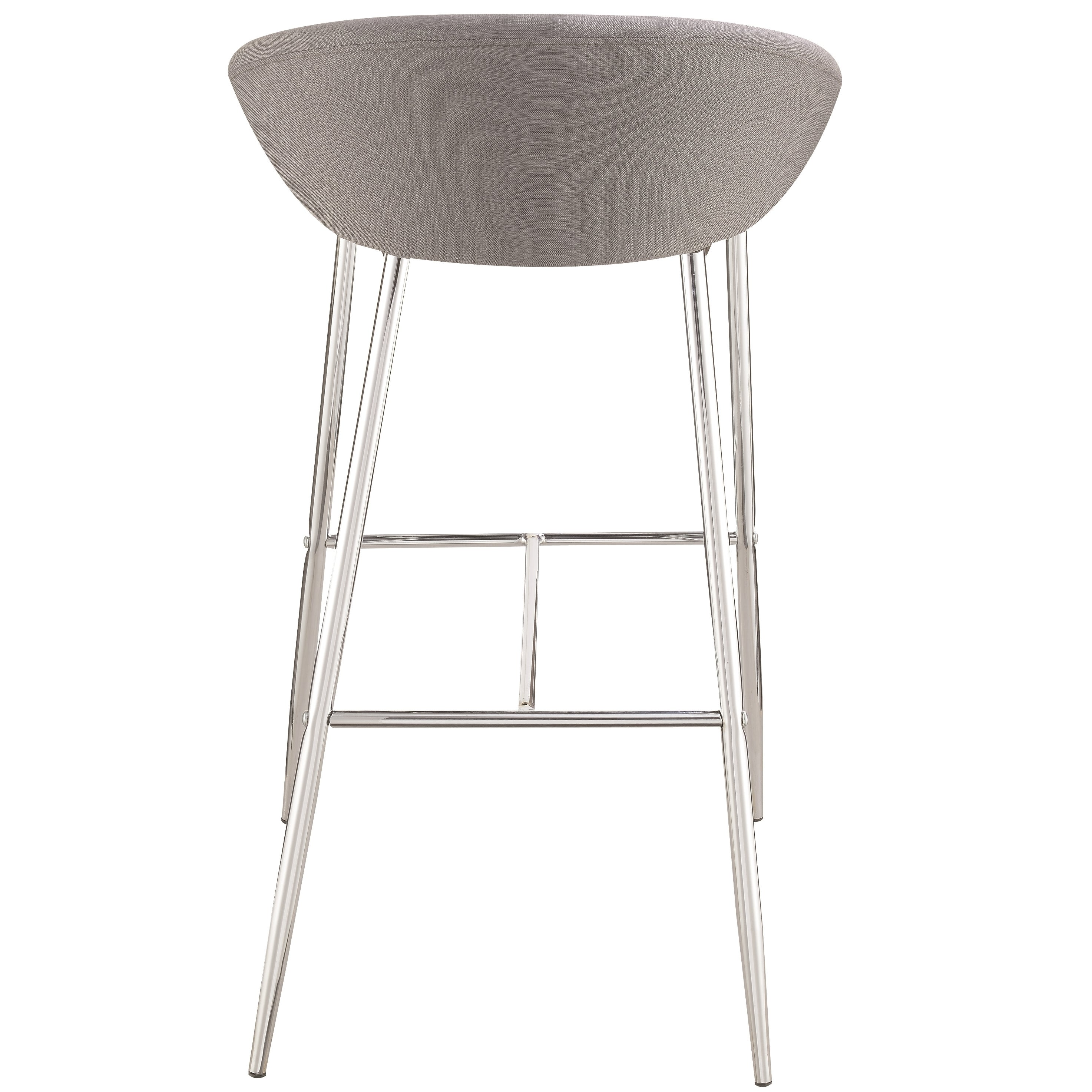 Modern Design Grey Woven Fabric Bar Stools With Sleek Chrome Base (Set Of  2)   Free Shipping Today   Overstock.com   23277928 Design Ideas