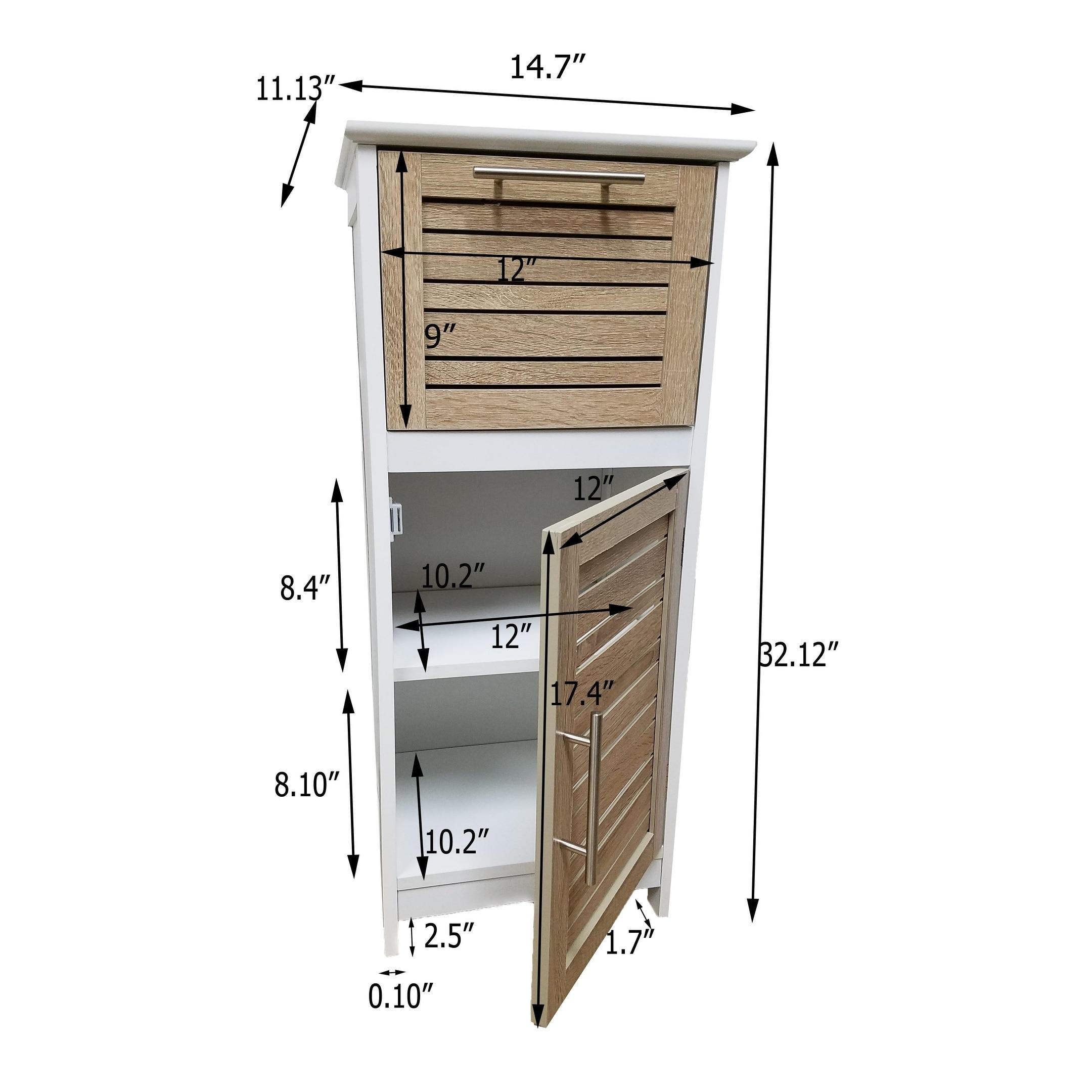 Evideco Bathroom Free Standing Storage Floor Cabinet So Romantic ...