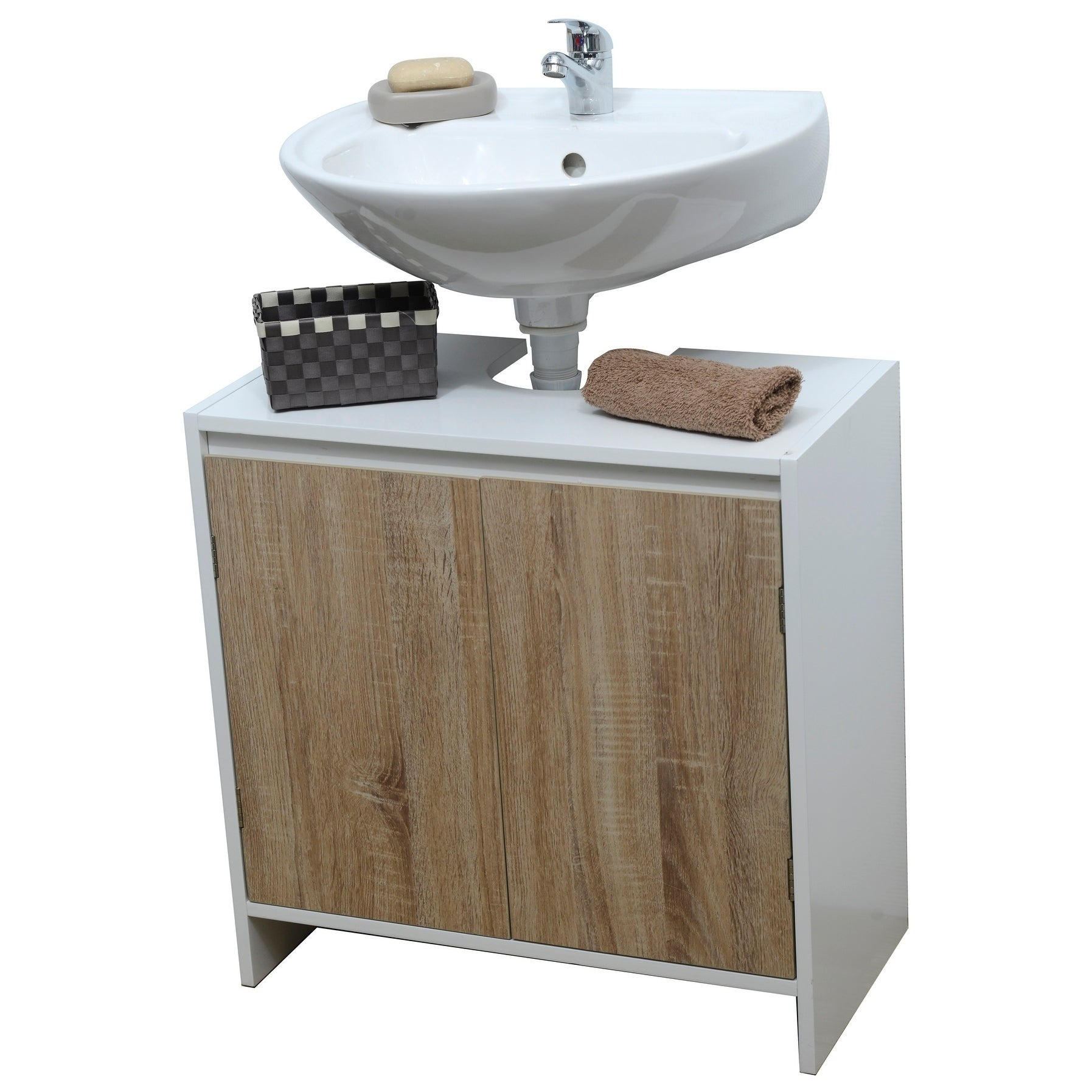 Evideco Non Pedestal Bathroom Under Sink Vanity Cabinet Montreal Oak Free Shipping Today 17000813