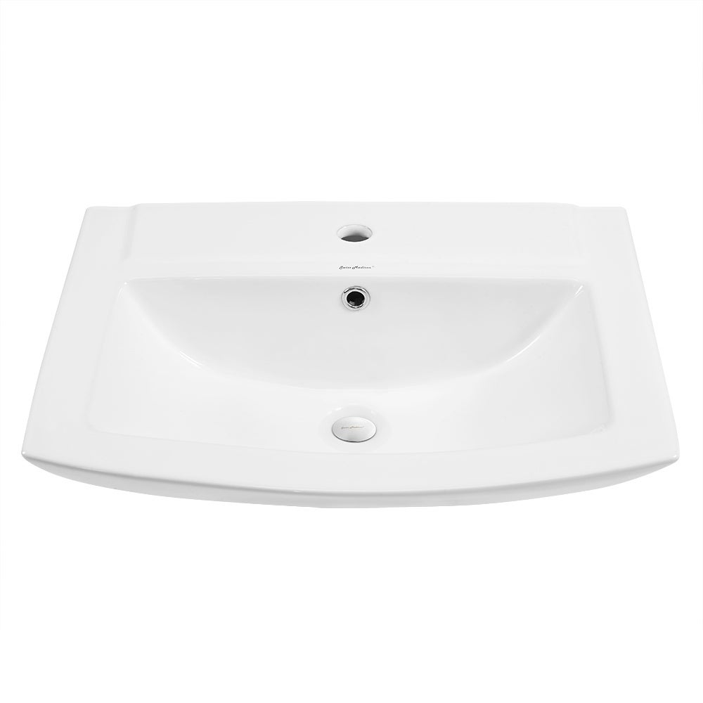 Swiss Madison Pedestal Bathroom Sink Rectangular with Single Faucet ...