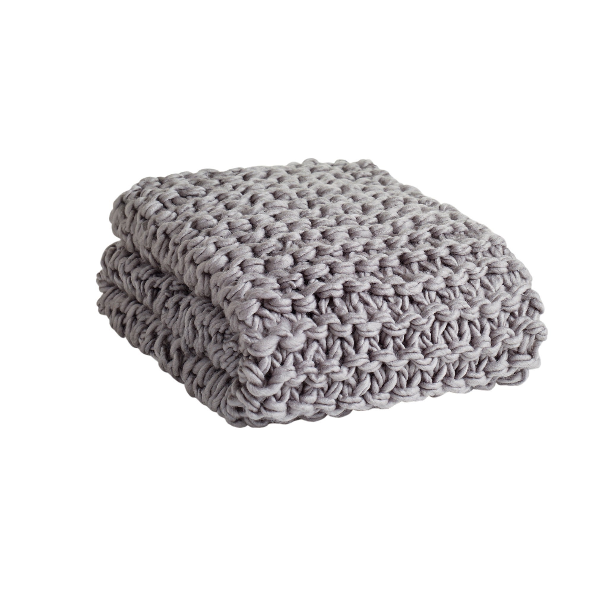 Madison Park Handmade Chunky Cable Knit Throw - Free Shipping Today ...