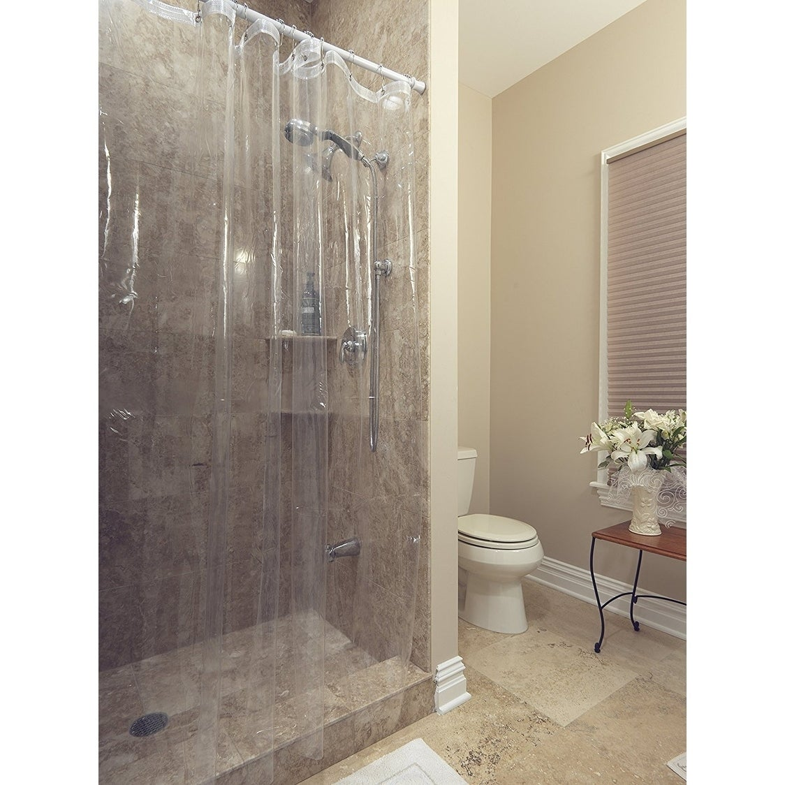 Shop Berrnour Home Venice Collection Heavy Duty Clear Shower Curtain Liner