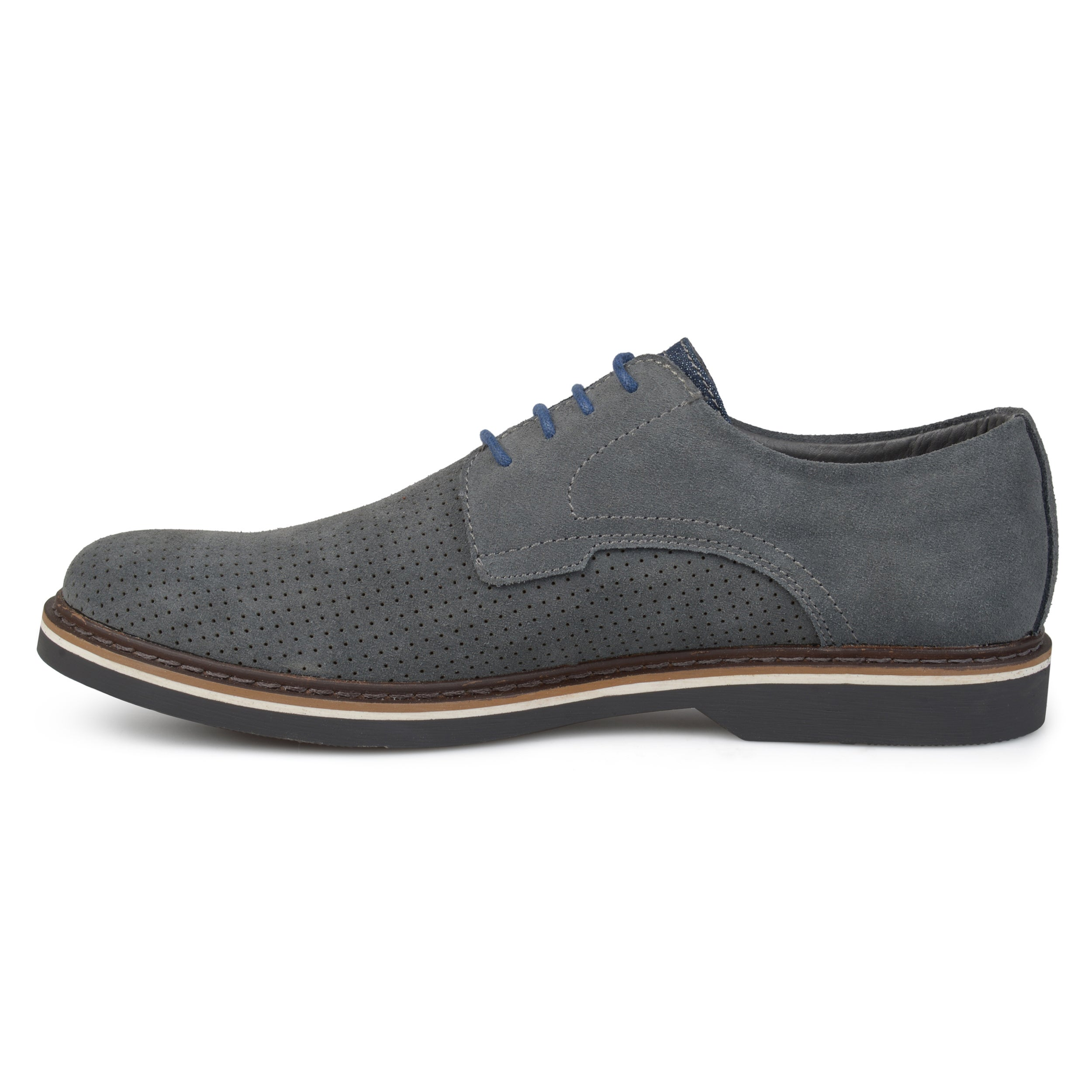 Vance Co Mens Kash Genuine Leather Suede Perforated Laceup Dress Shoes  Free Shipping Today  Overstockcom  23292356